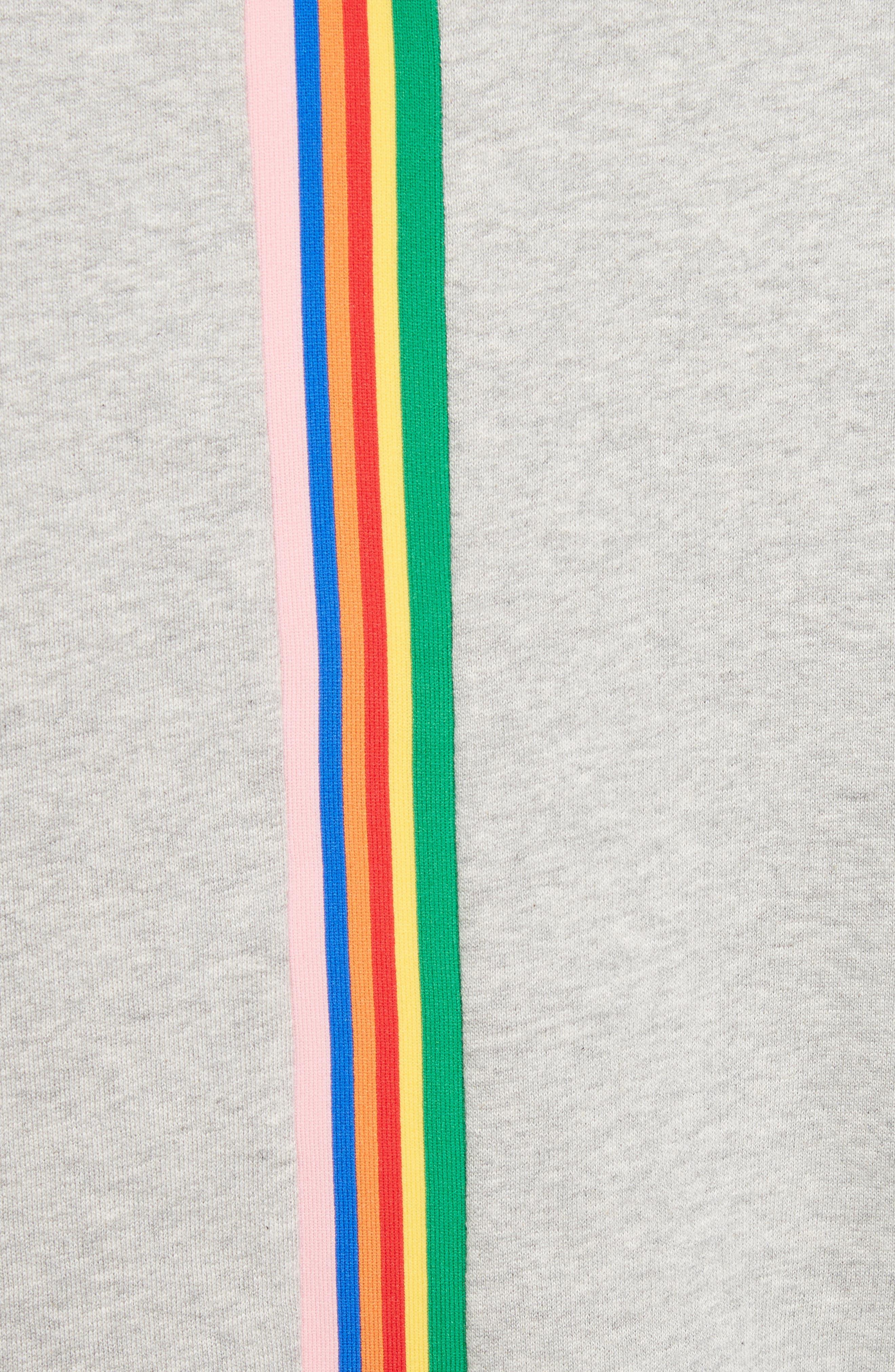 être cécile Rainbow Cotton Boyfriend Sweatshirt,                             Alternate thumbnail 5, color,                             020