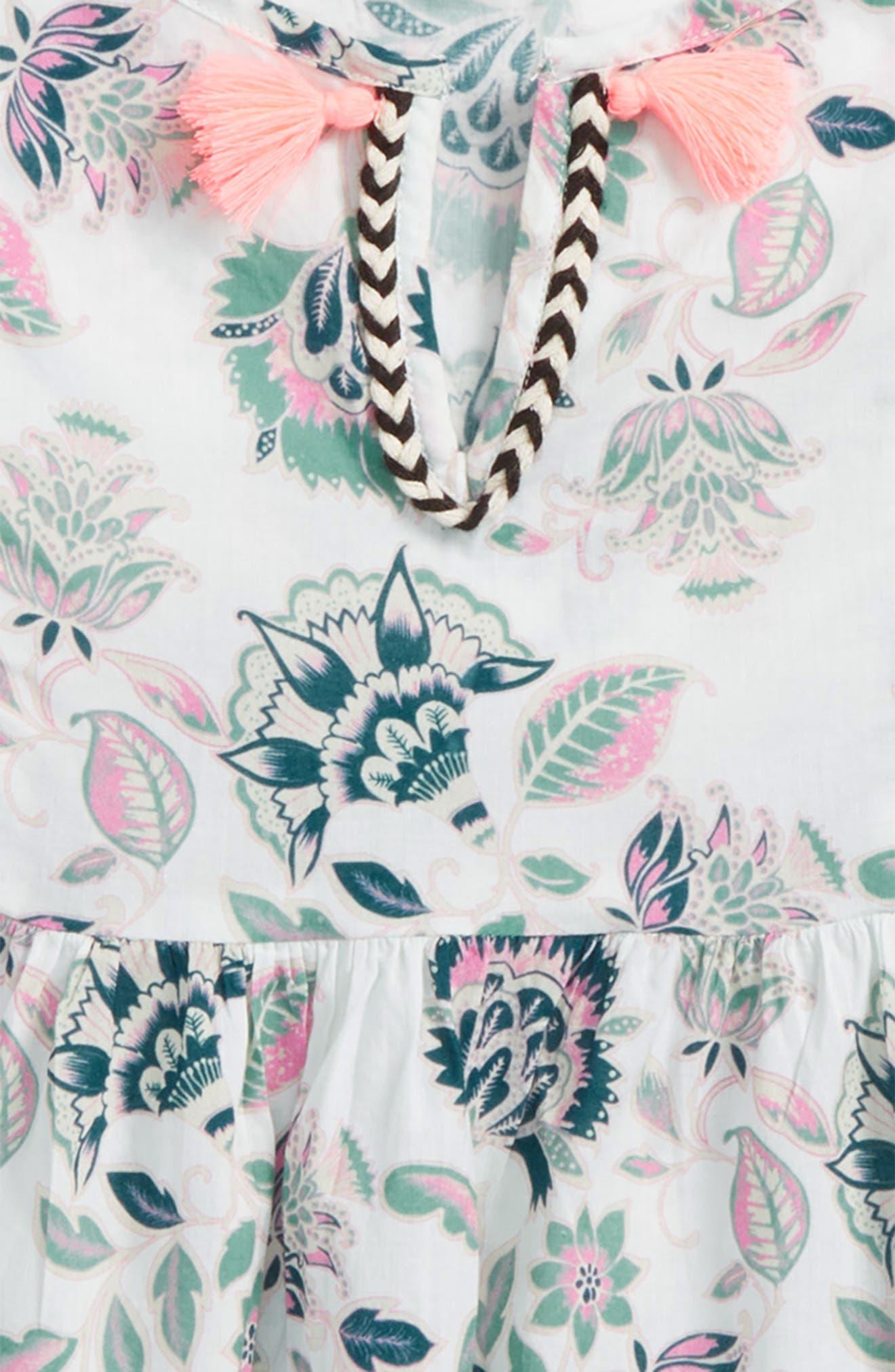 Stefani Floral Print Top,                             Alternate thumbnail 2, color,                             100