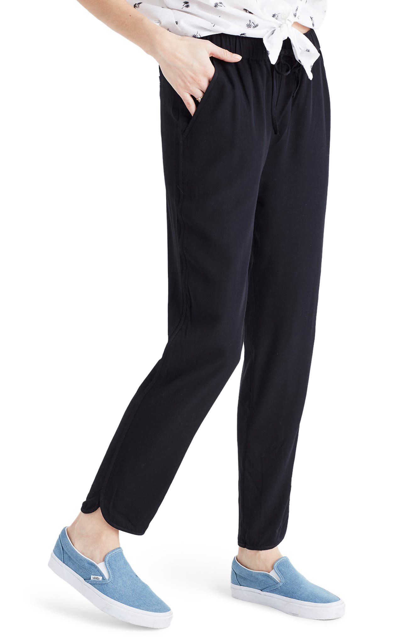 MADEWELL,                             Track Trousers,                             Alternate thumbnail 3, color,                             TRUE BLACK