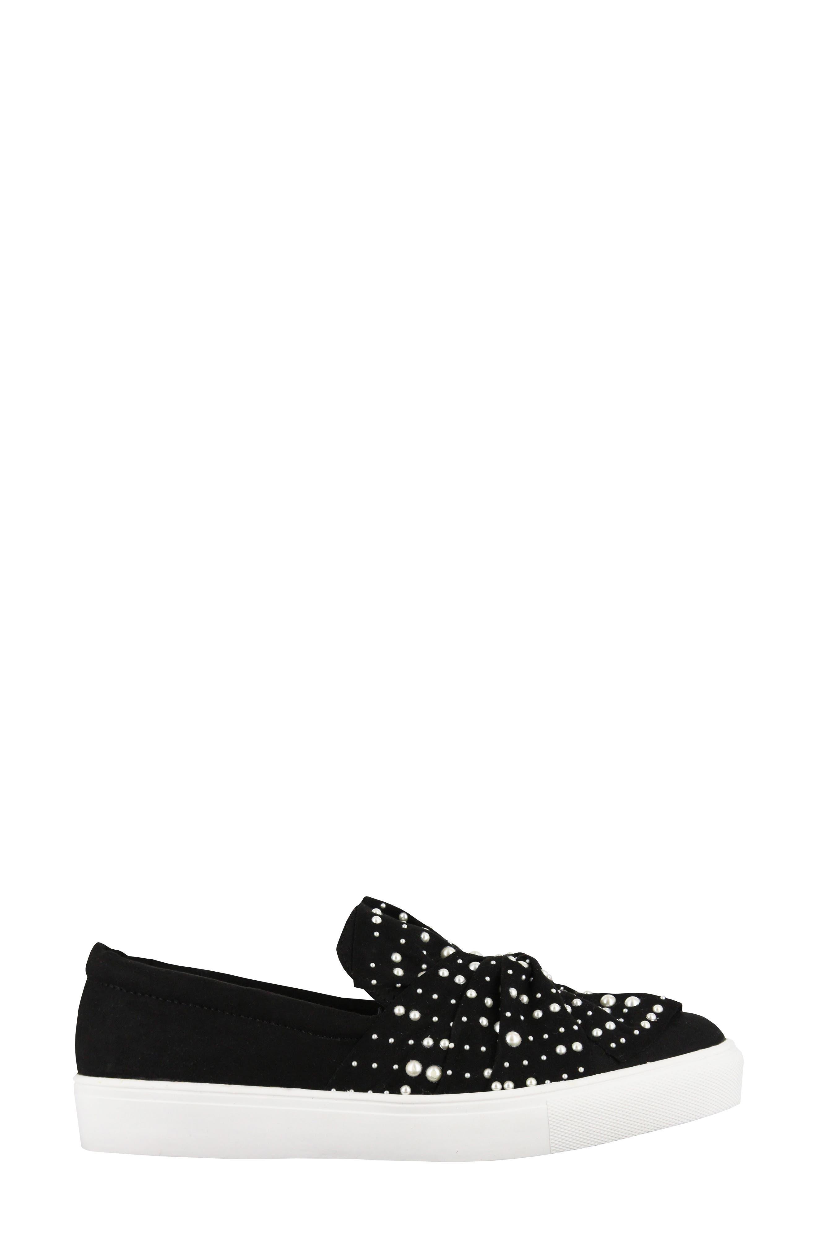Aretha Embellished Slip-On Sneaker,                             Alternate thumbnail 3, color,