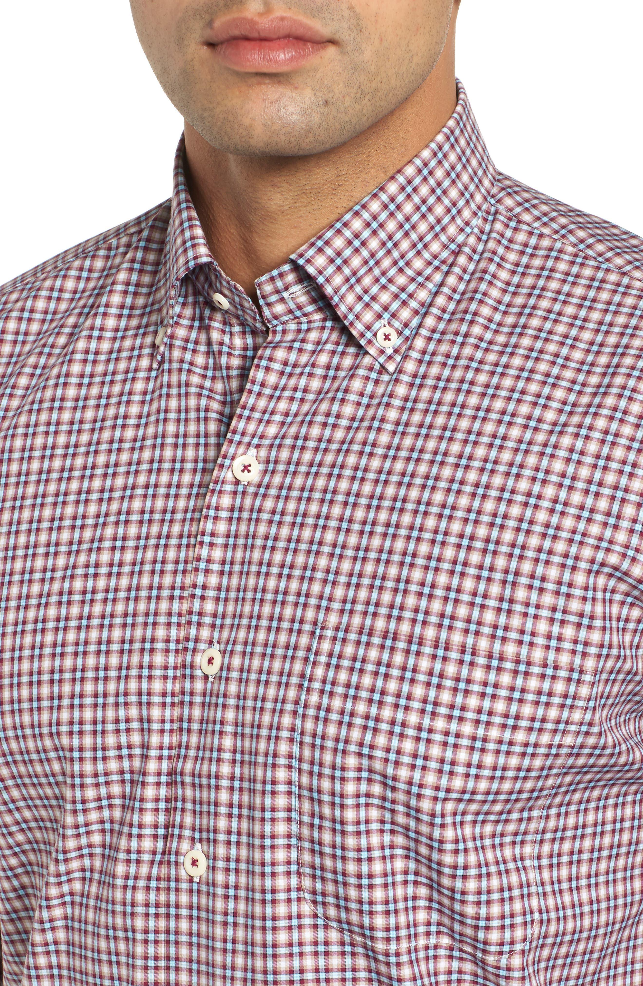 Albertville Check Sport Shirt,                             Alternate thumbnail 2, color,                             WINTERBERRY