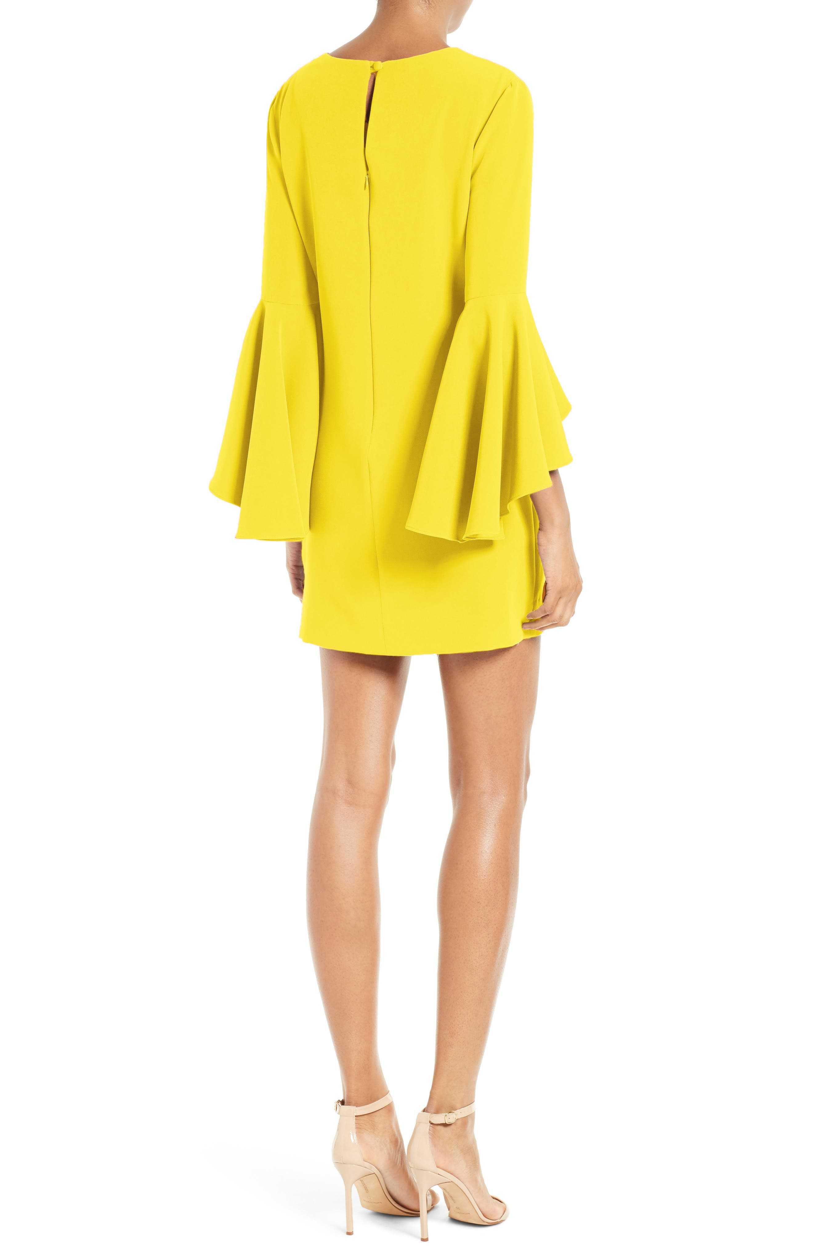 Nicole Bell Sleeve Dress,                             Alternate thumbnail 30, color,