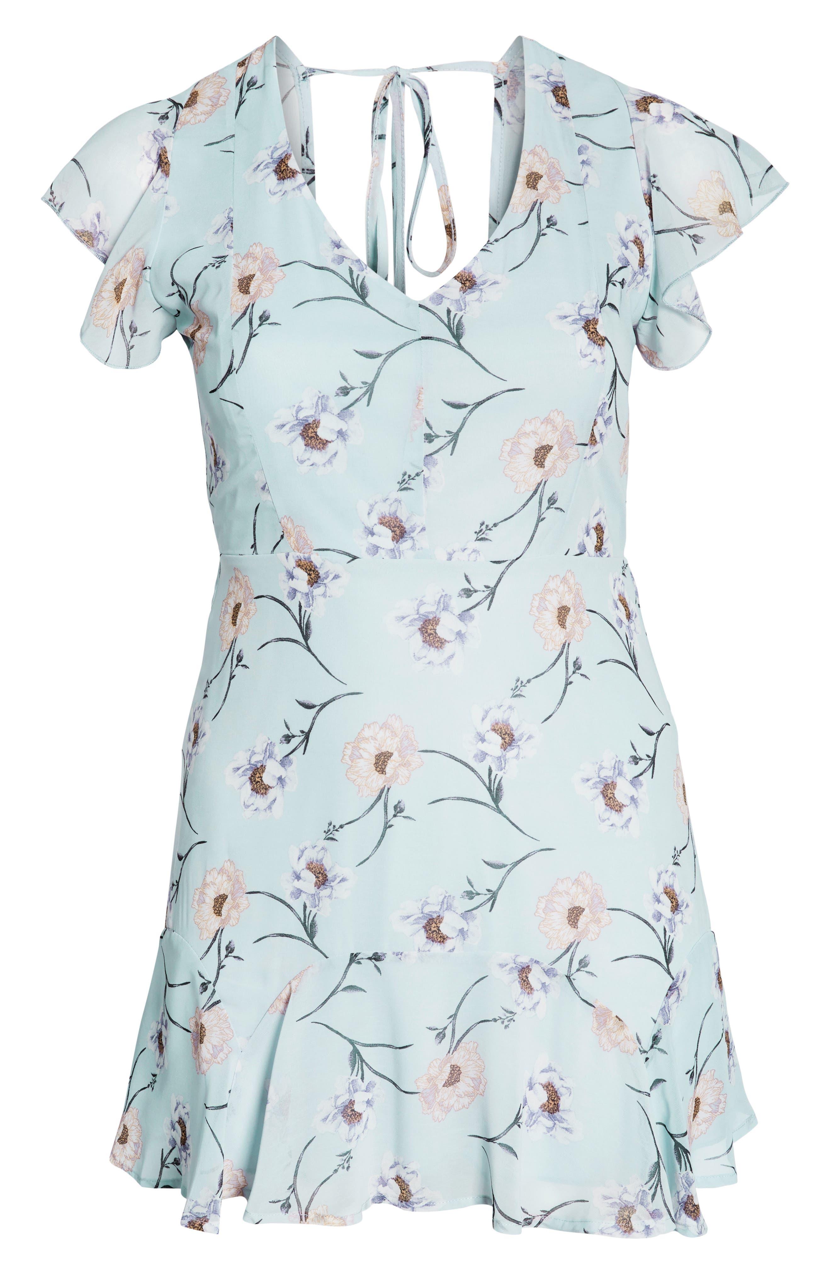 Flutter Sleeve Minidress,                             Alternate thumbnail 13, color,                             400