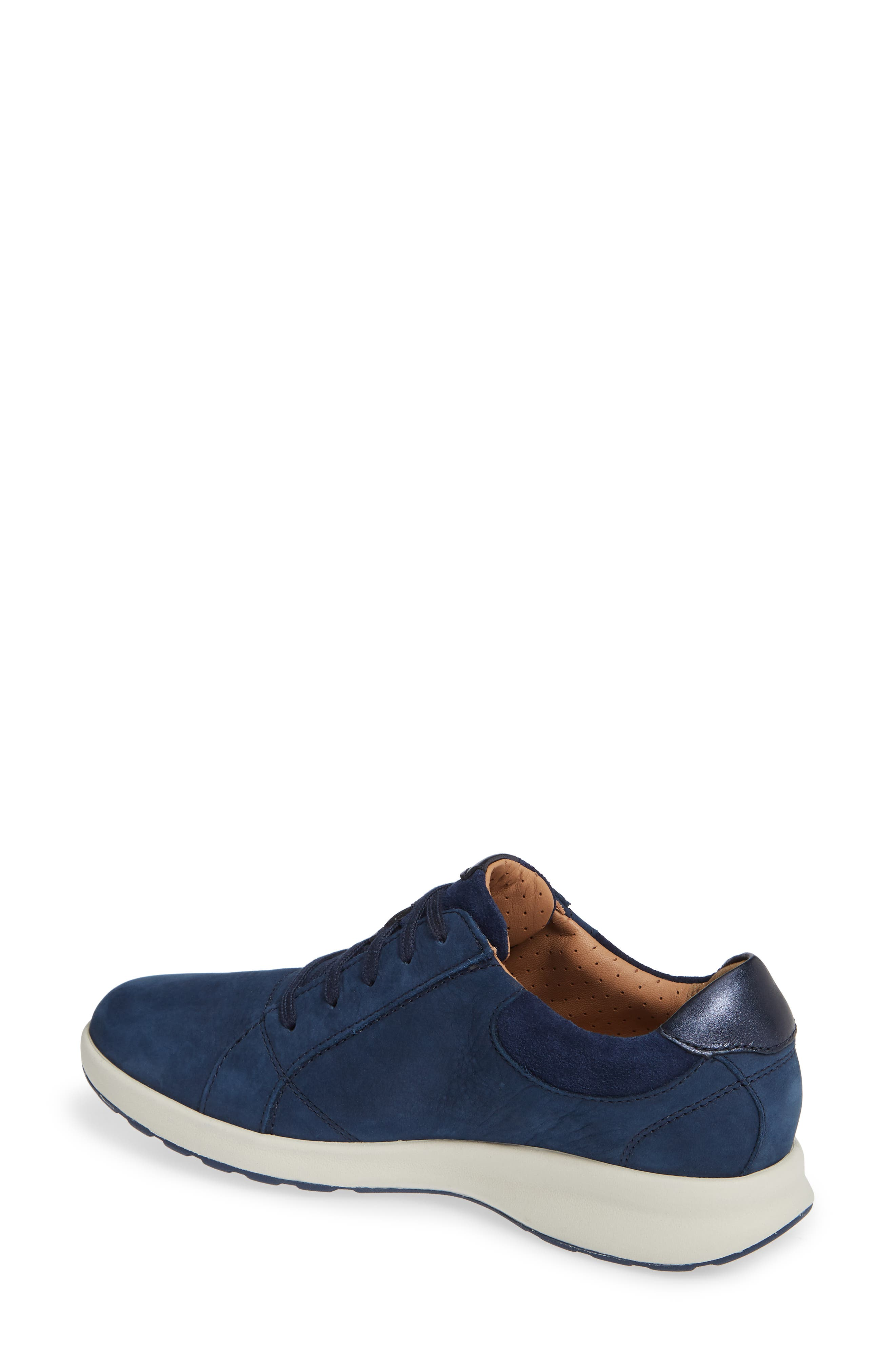 UnAdorn Lace-Up Sneaker,                             Alternate thumbnail 2, color,                             NAVY NUBUCK