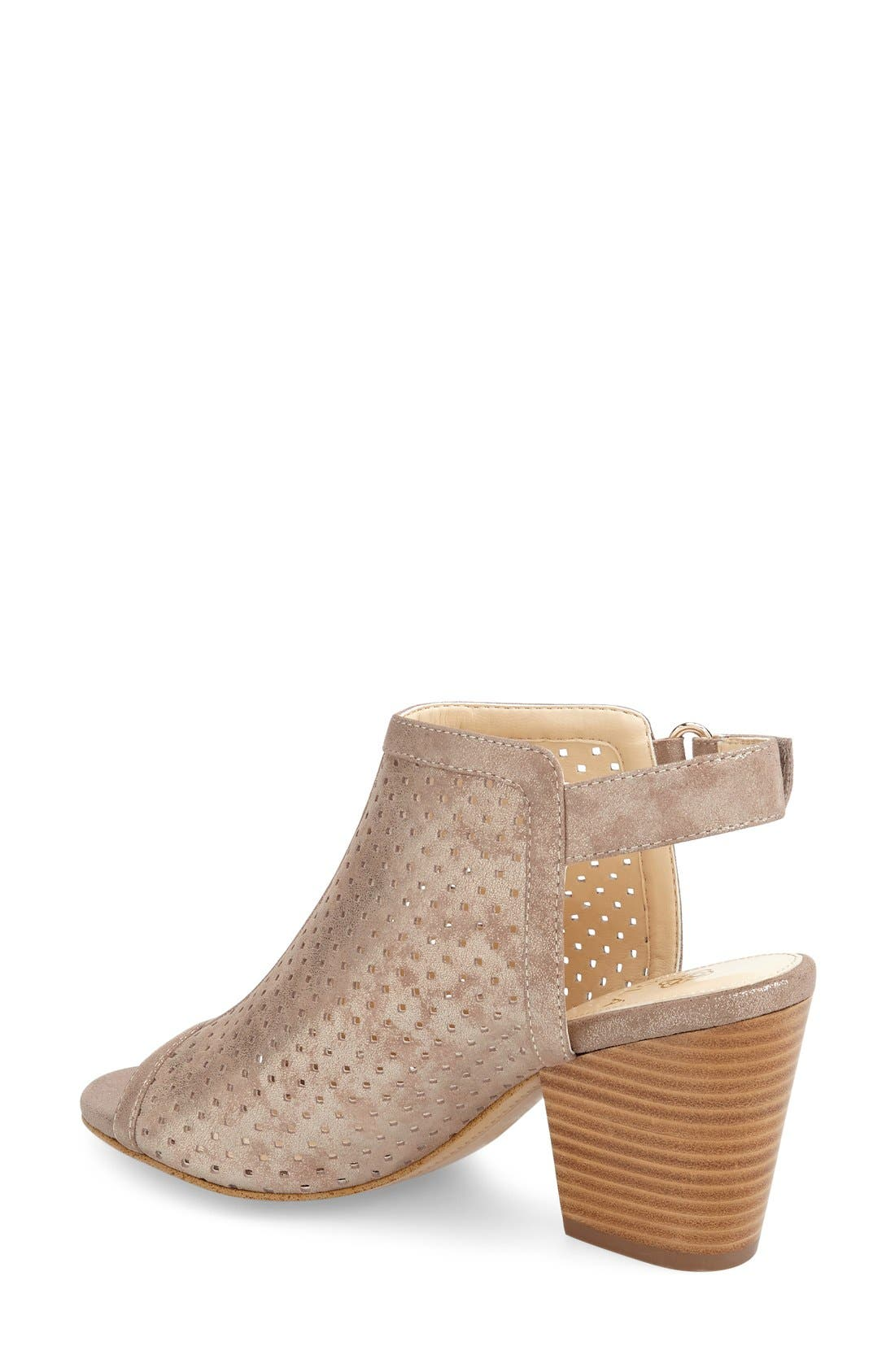 'Lora' Perforated Open-Toe Bootie Sandal,                             Alternate thumbnail 2, color,                             040