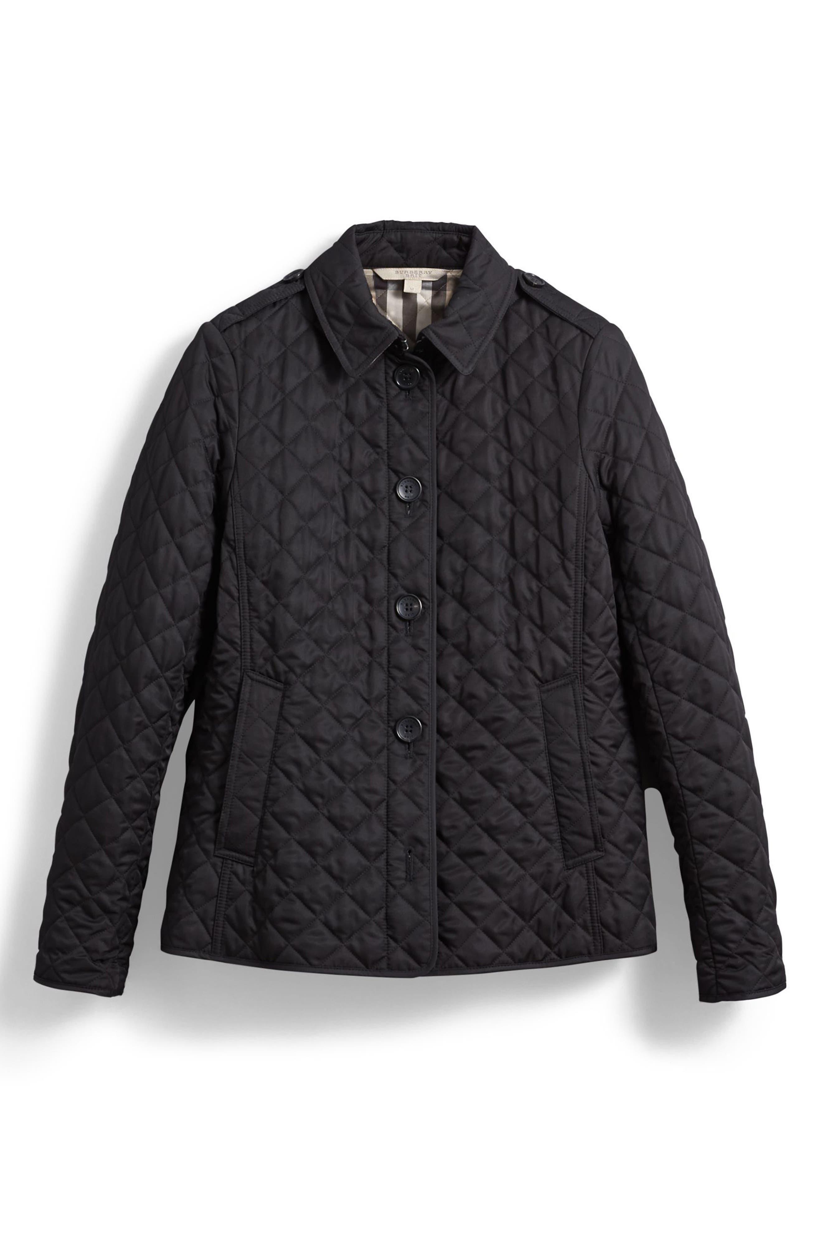 Ashurst Quilted Jacket,                             Alternate thumbnail 6, color,                             BLACK
