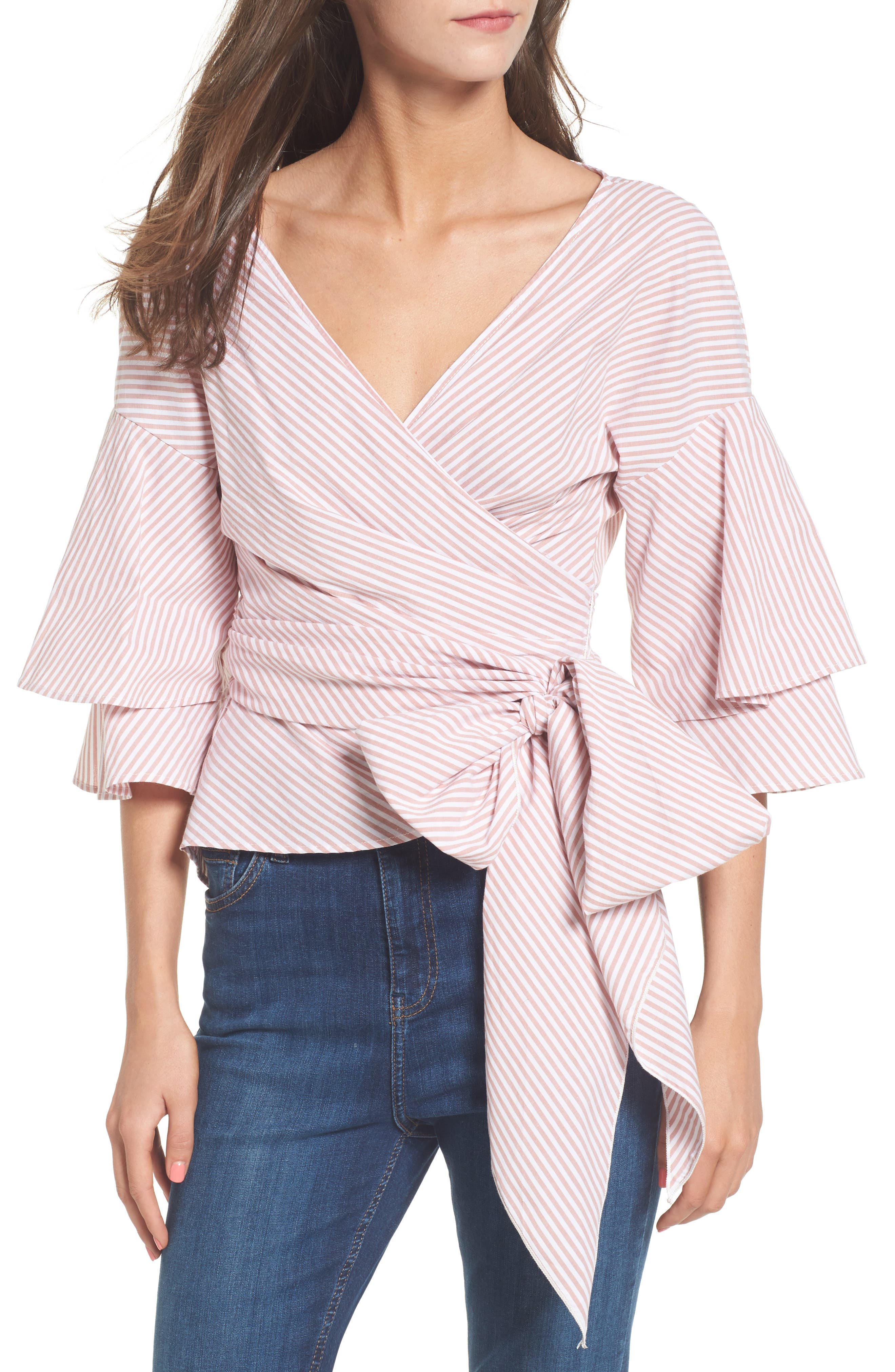 Beckett Tiered Bell Sleeve Top,                             Main thumbnail 6, color,