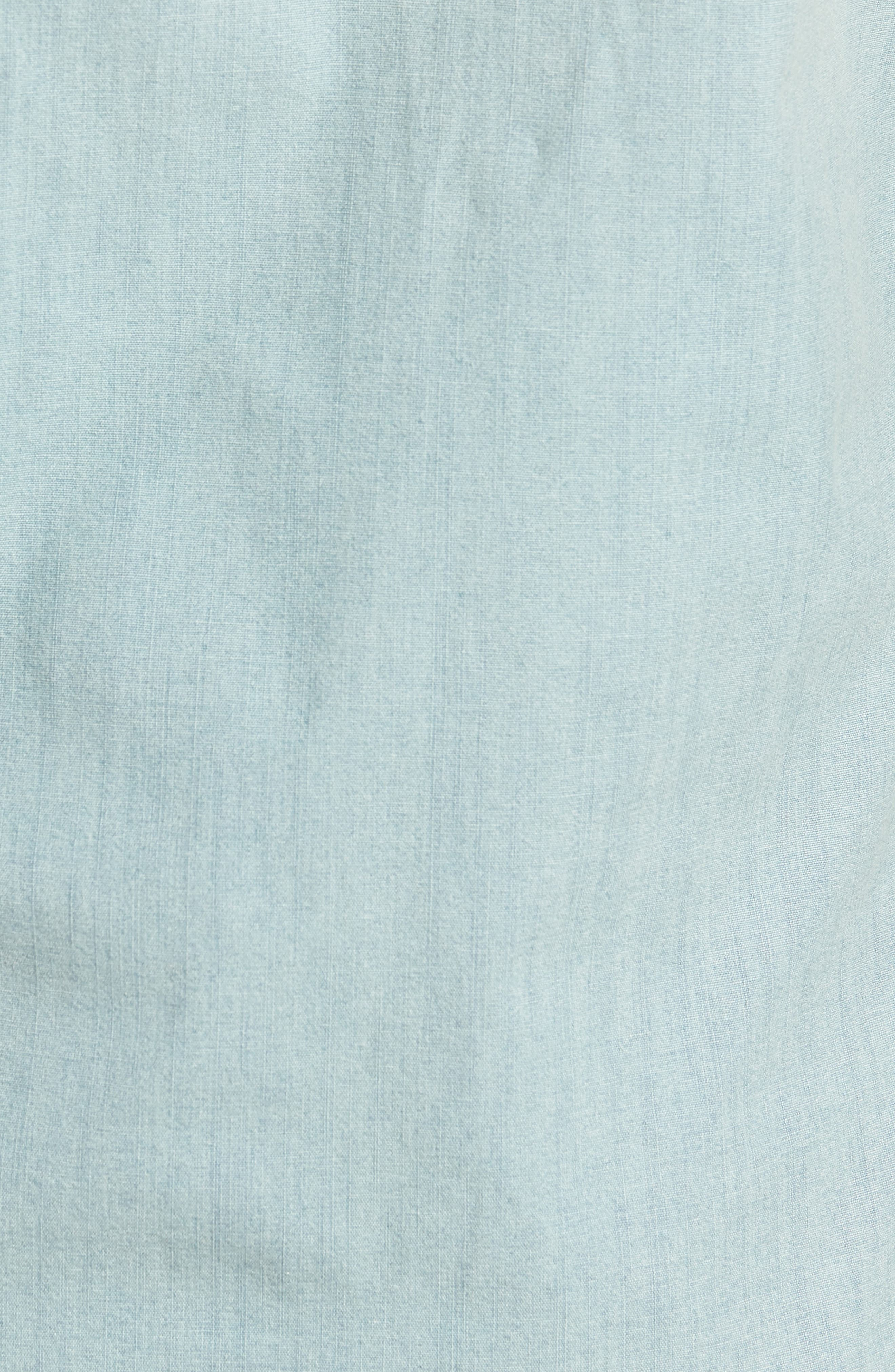 Slim Fit Stretch Chambray Shirt,                             Alternate thumbnail 5, color,