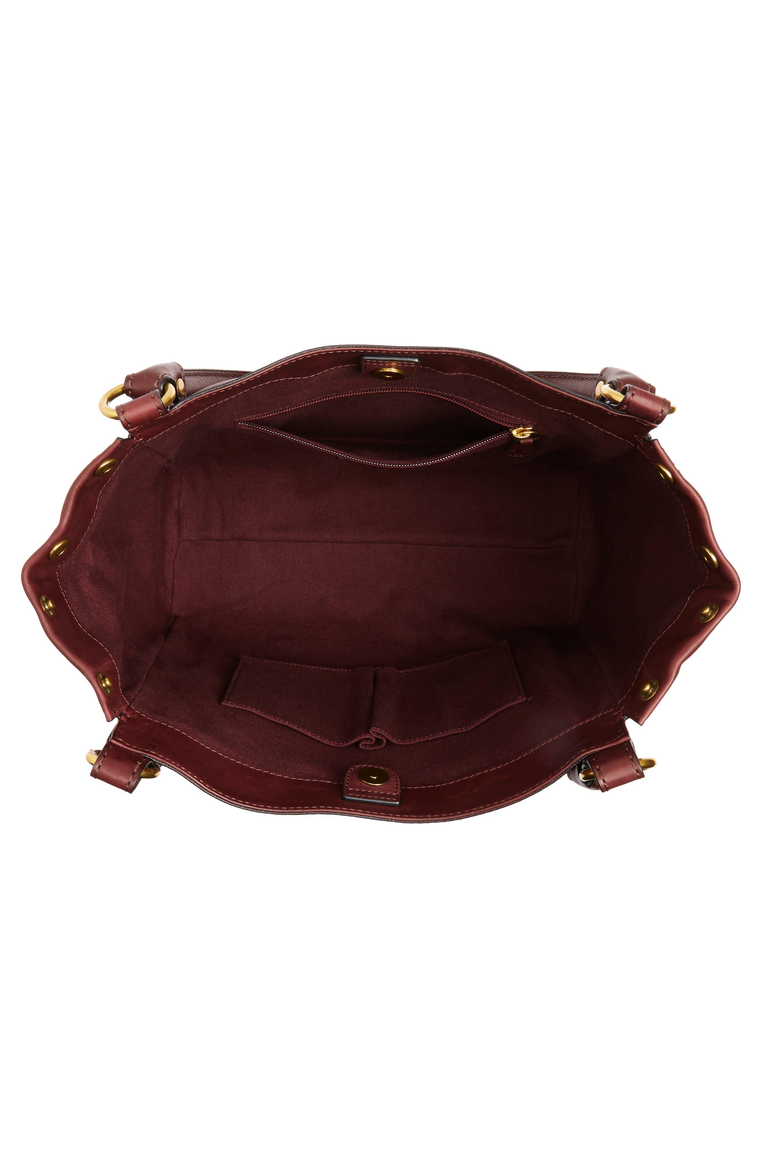 Melissa Leather Shoulder Bag,                             Alternate thumbnail 12, color,