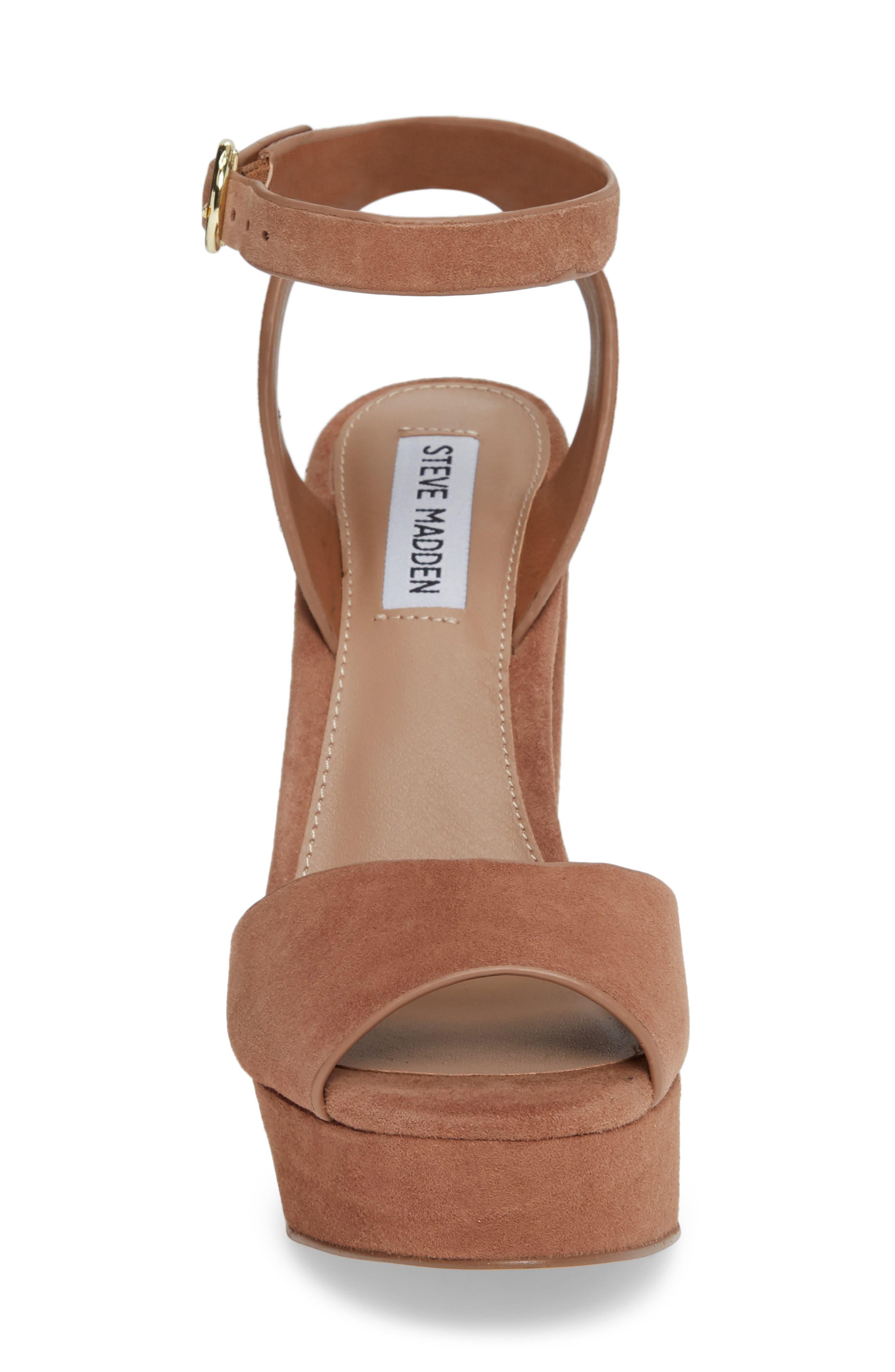 STEVE MADDEN,                             Jes Platform Sandal,                             Alternate thumbnail 4, color,                             230