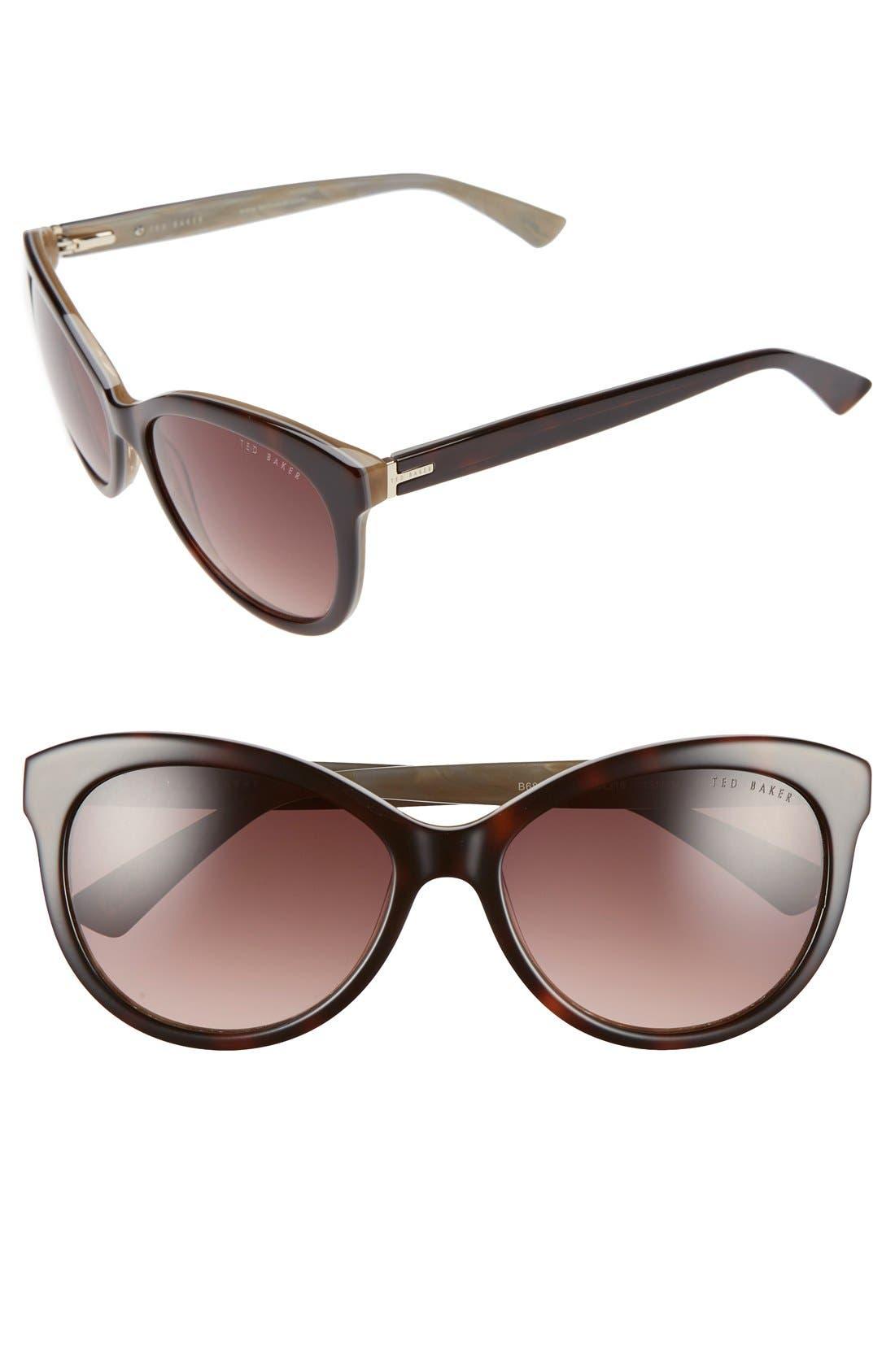 56mm Cat Eye Sunglasses,                             Main thumbnail 2, color,