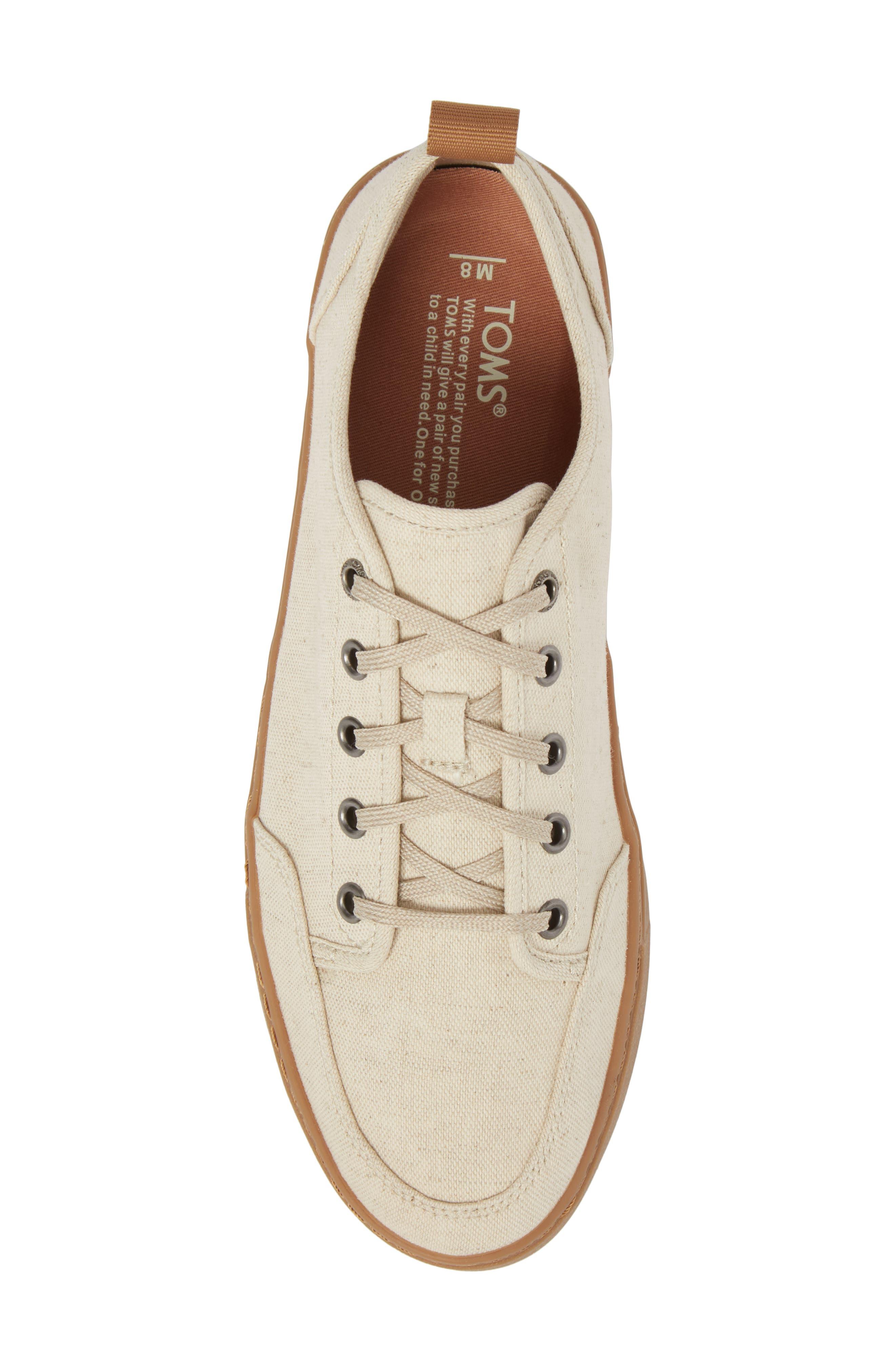 Landen Low Top Sneaker,                             Alternate thumbnail 5, color,                             NATURAL HEMP/ GUM
