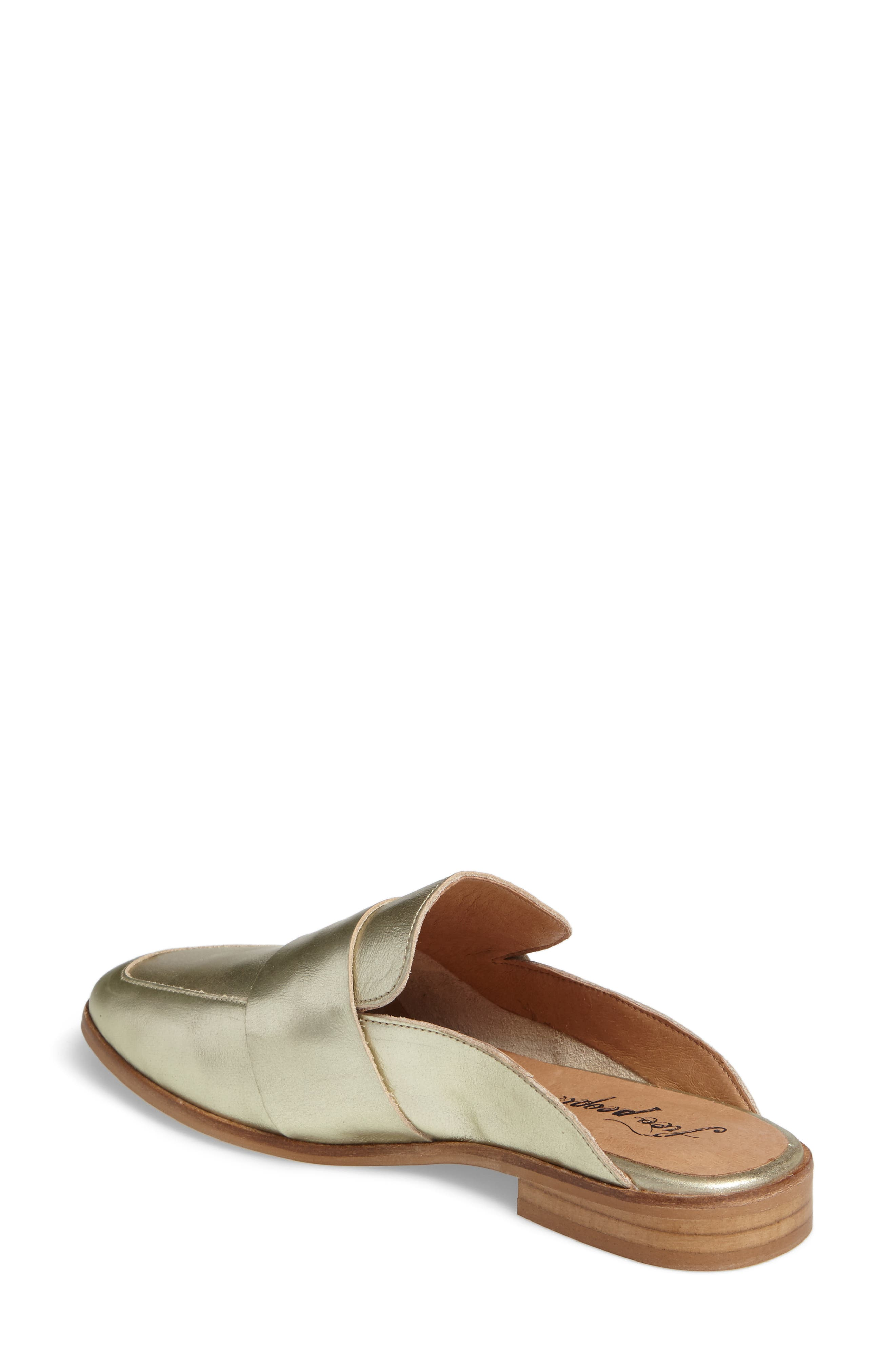At Ease Loafer Mule,                             Alternate thumbnail 2, color,                             GOLD LEATHER