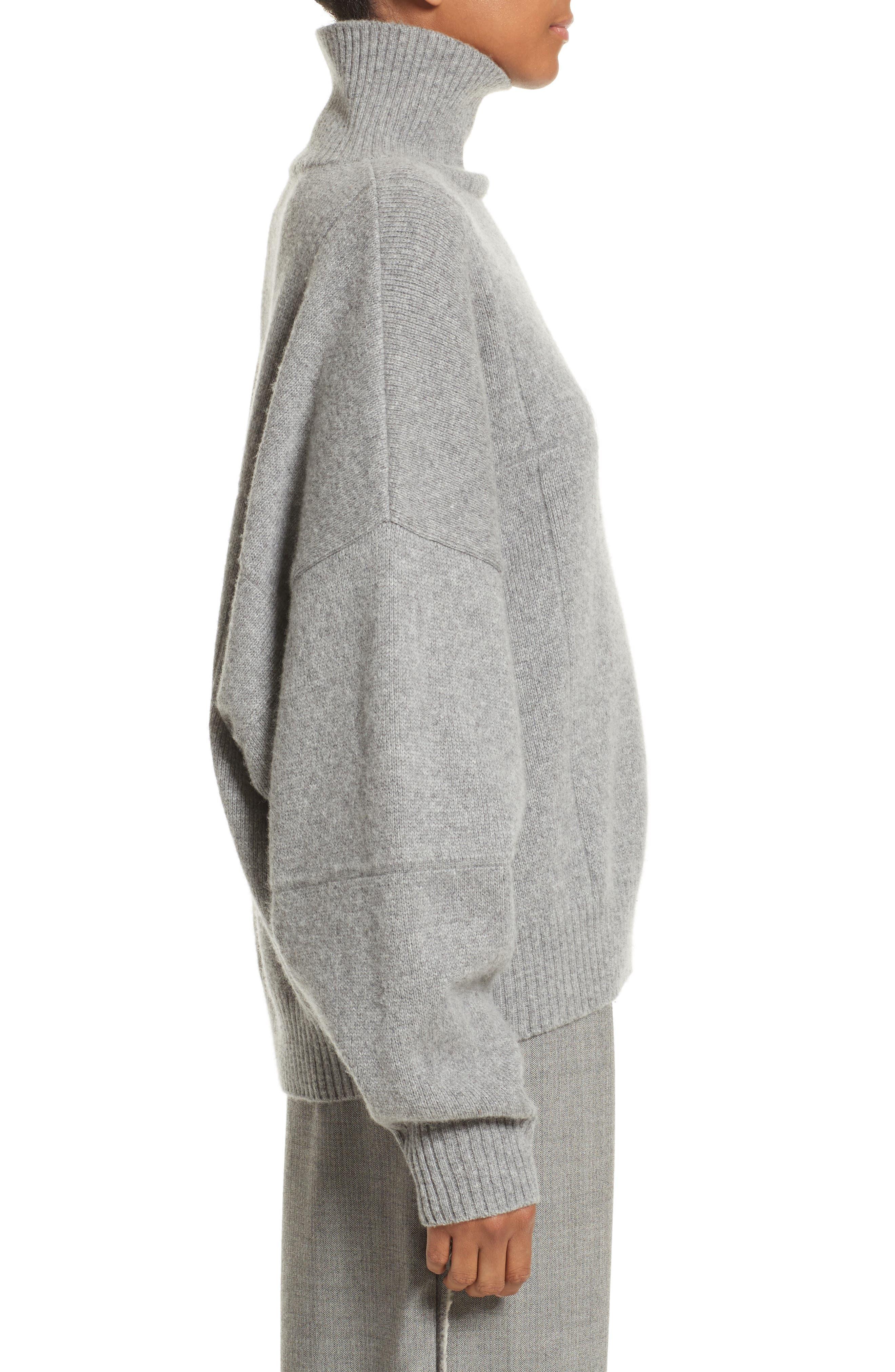 Concrete Wool Turtleneck Sweater,                             Alternate thumbnail 3, color,                             050