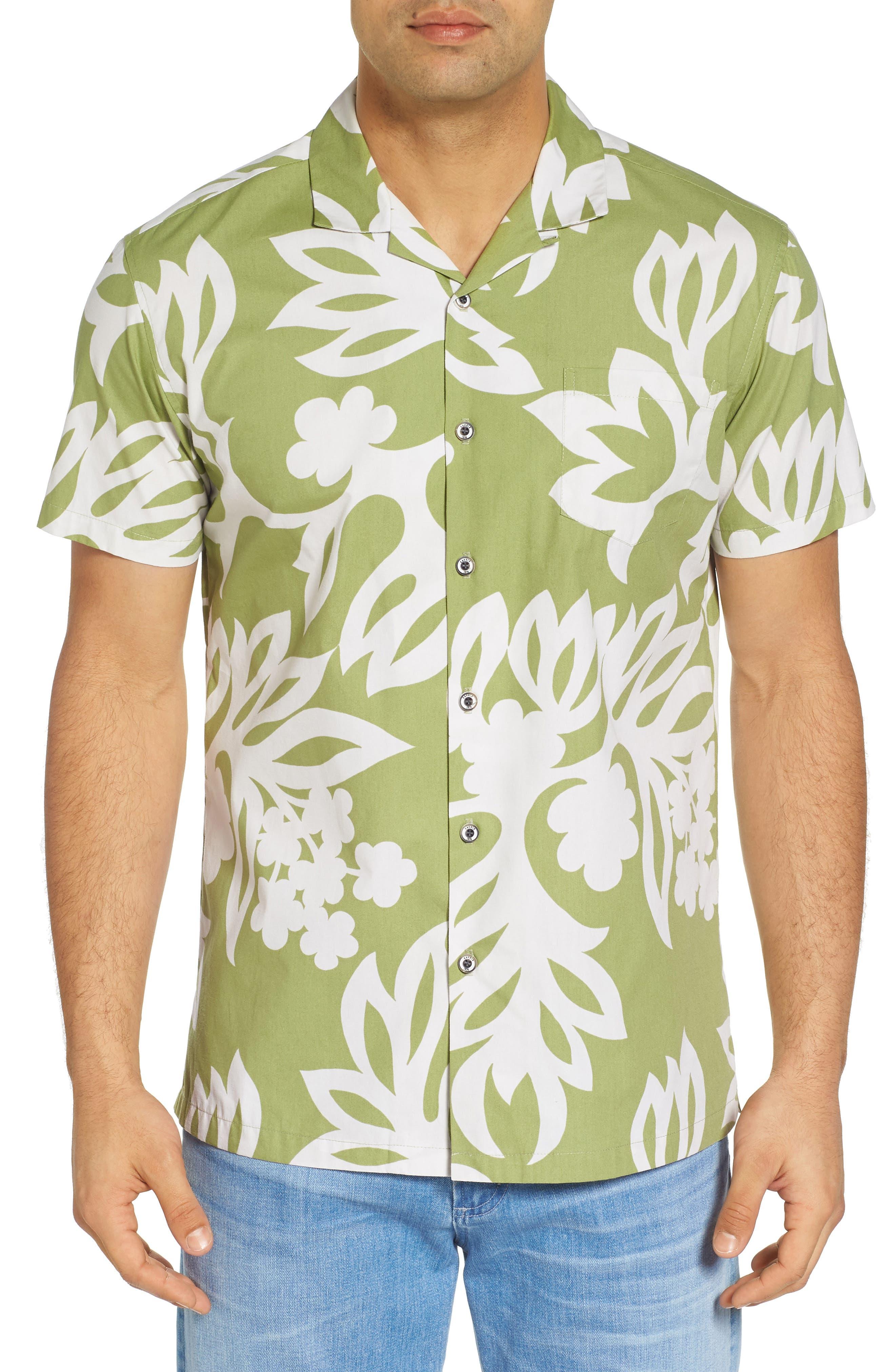 Simple Regular Fit Camp Shirt,                         Main,                         color, 335