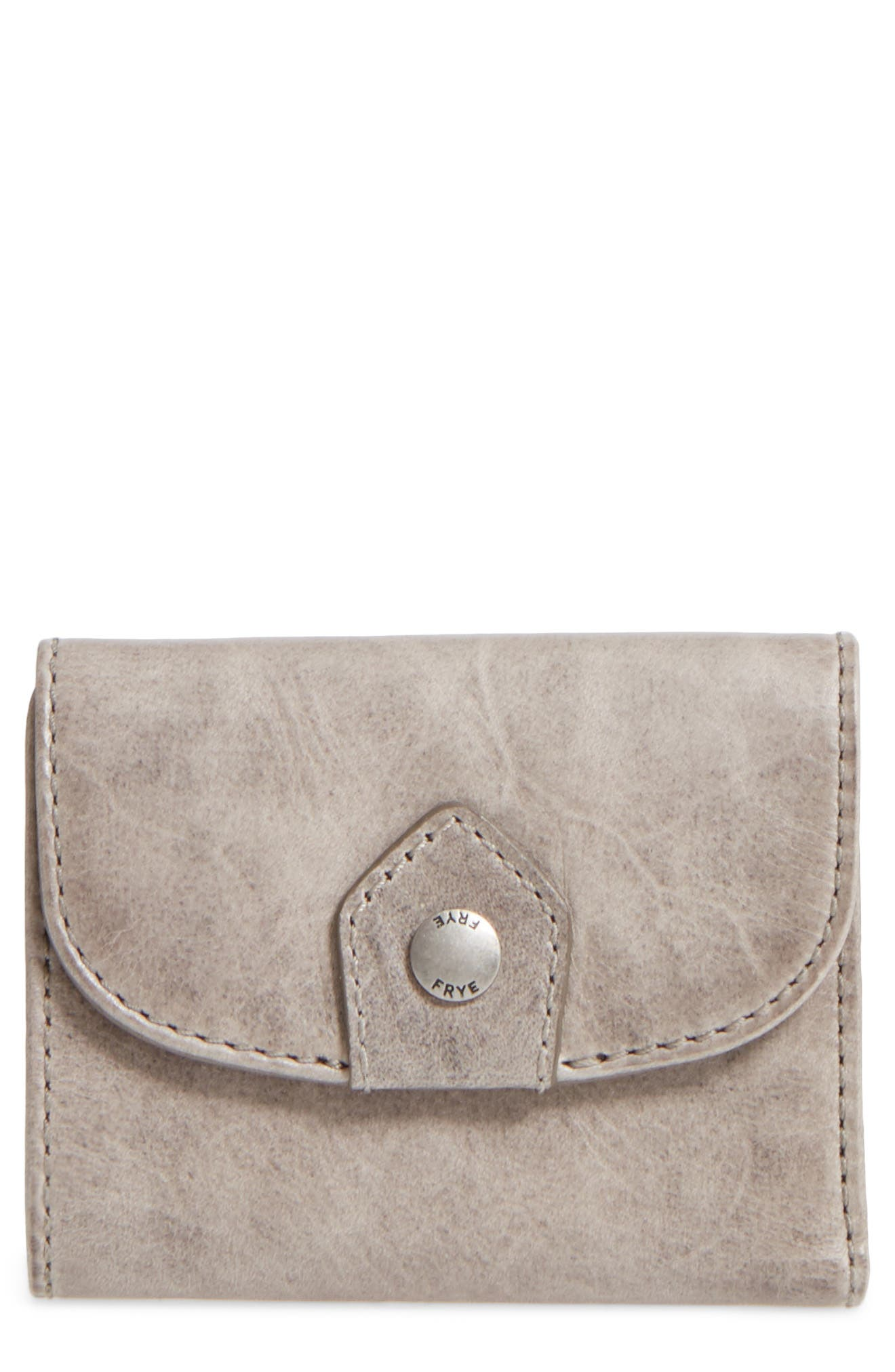 FRYE Melissa Medium Trifold Leather Wallet, Main, color, 020