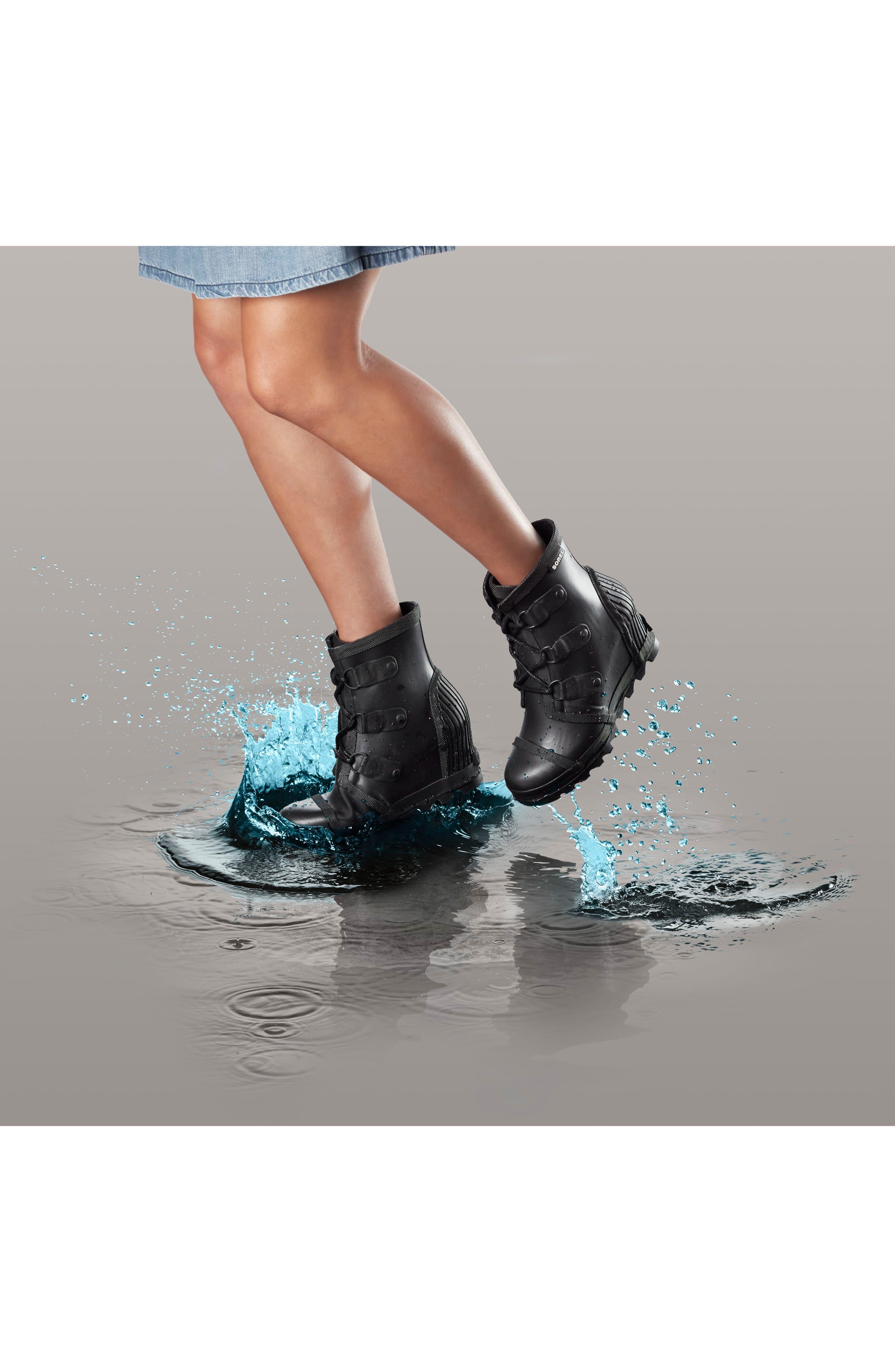 Joan Wedge Rain Boot,                             Alternate thumbnail 15, color,
