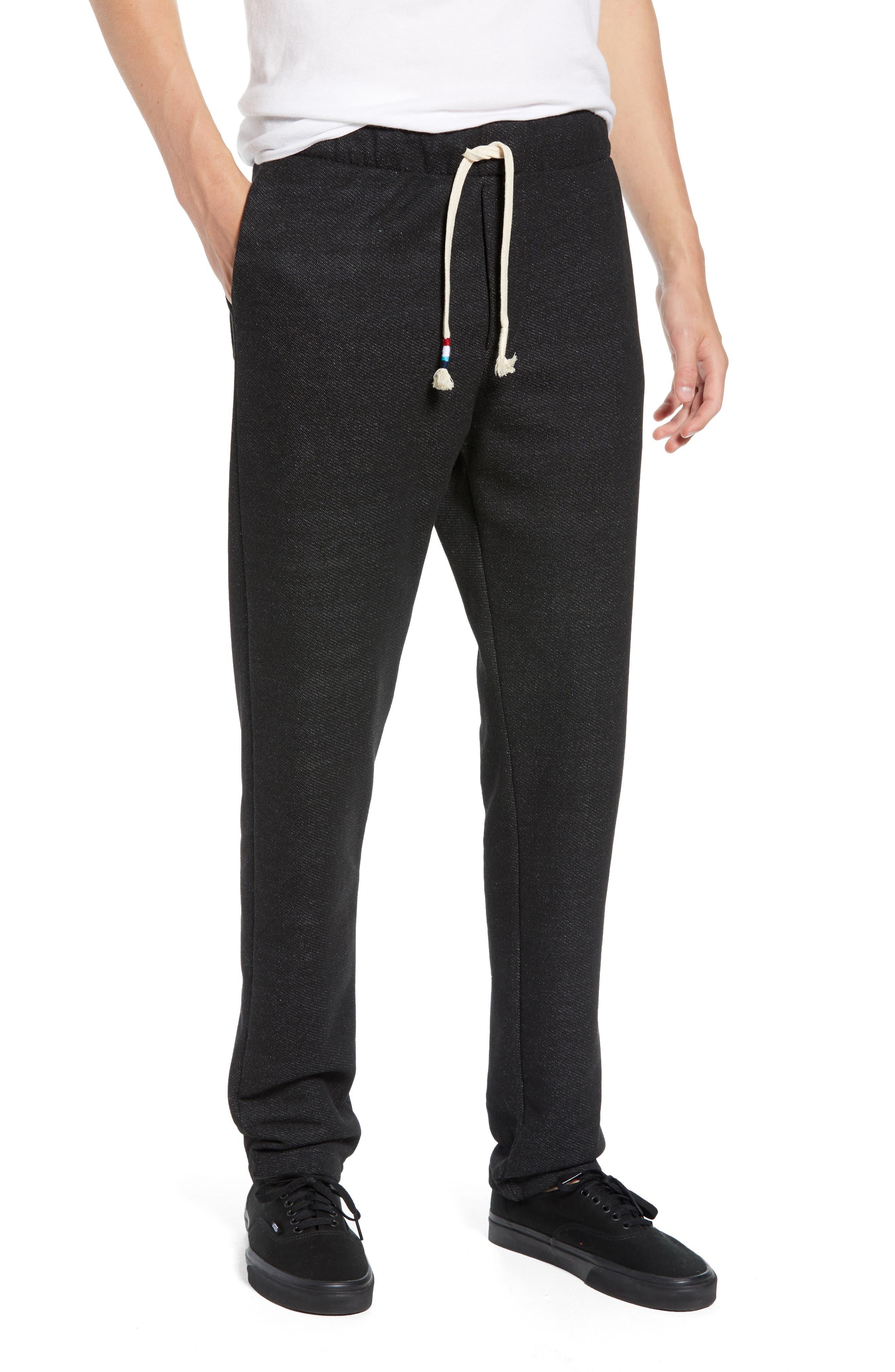Reverse Aztec Fleece Pants,                         Main,                         color, CHARCOAL