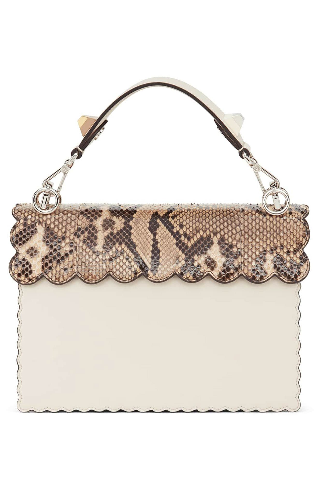 Small Kan I Genuine Python & Calfskin Shoulder Bag,                             Alternate thumbnail 2, color,                             CAMELIA/ MAKEUP/ PYTHON