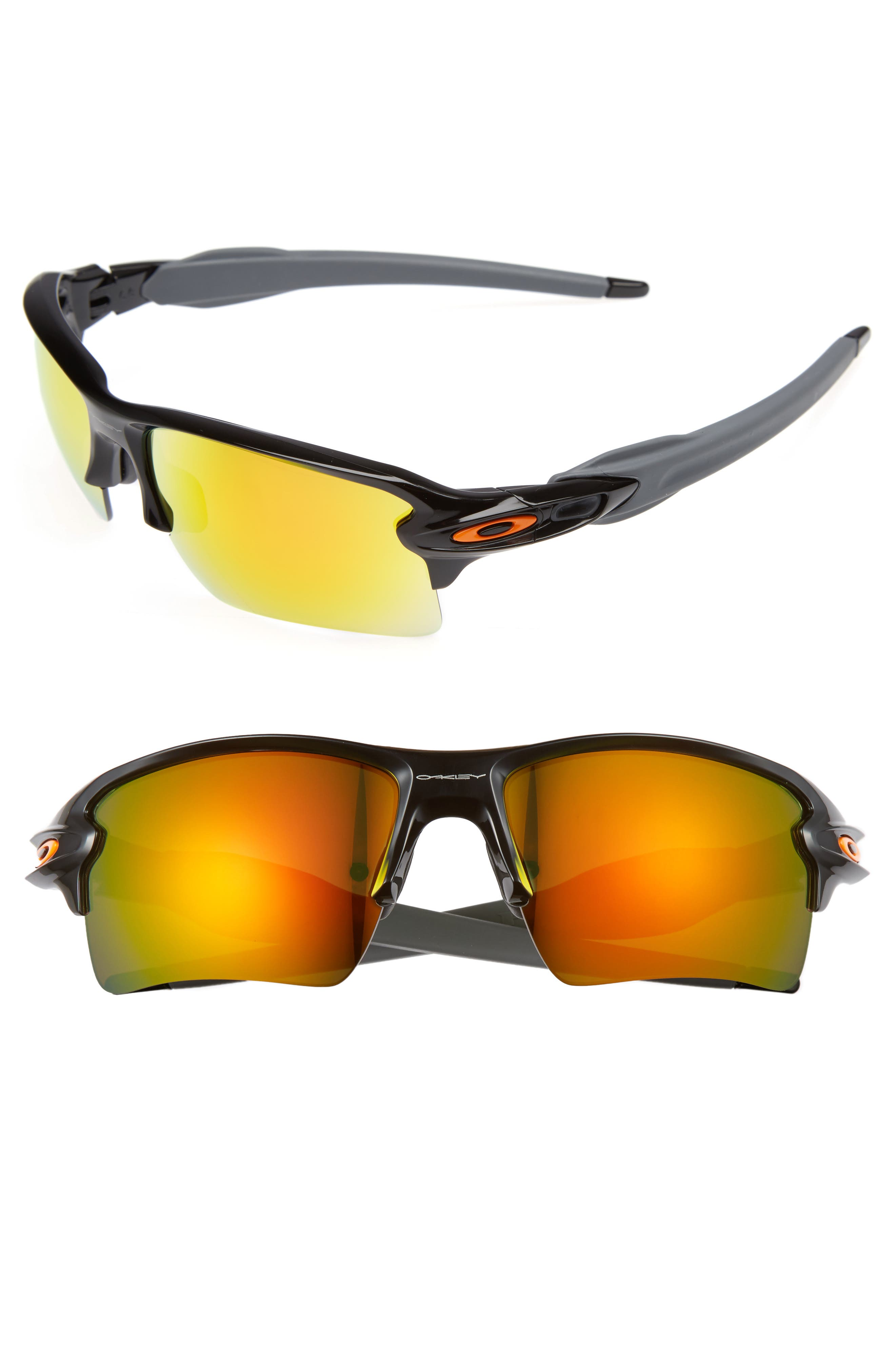 Flak 2.0 59mm Sunglasses,                         Main,                         color, BLACK/FIRE