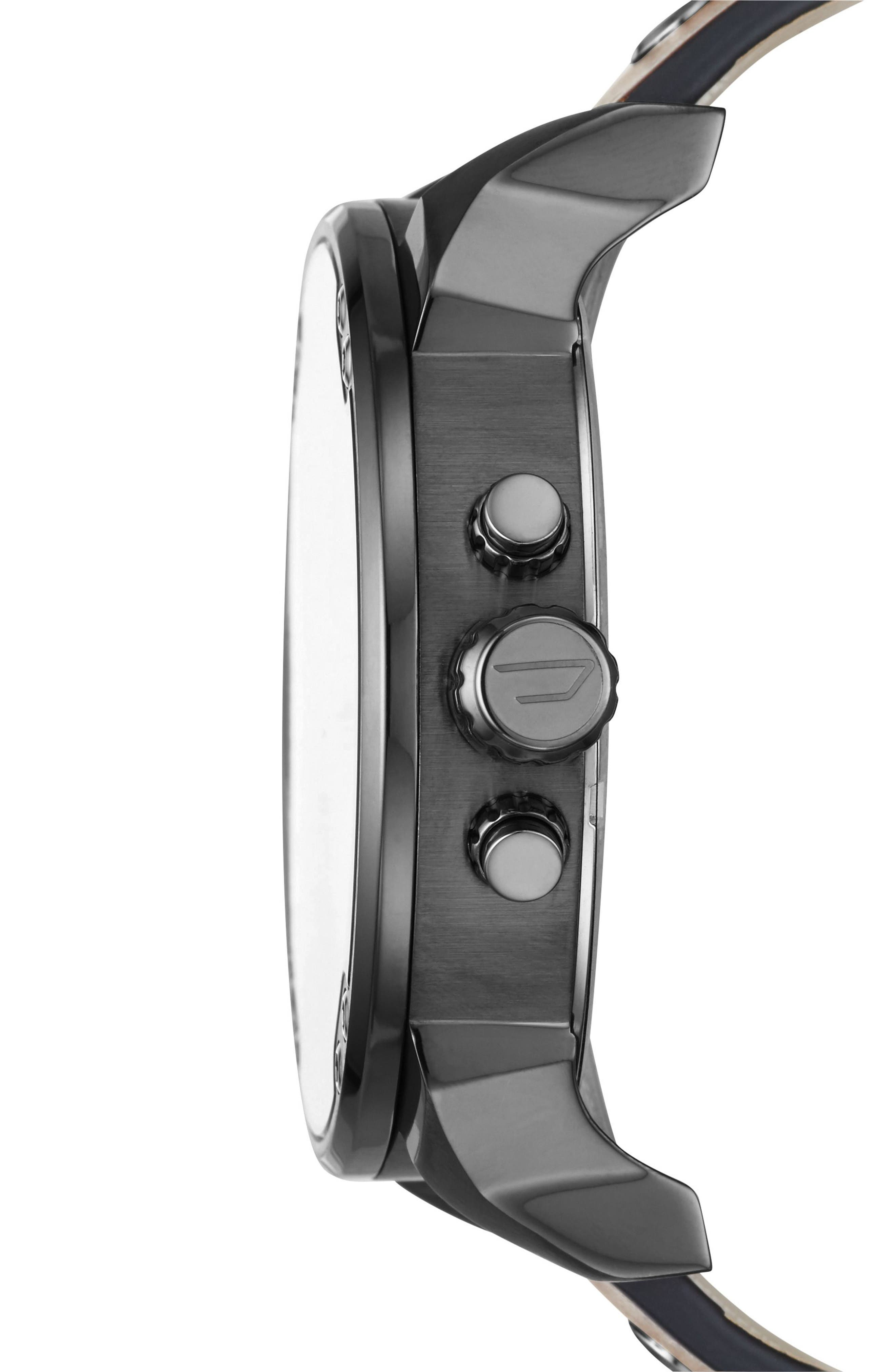 Mr. Daddy 2.0 Leather Strap Watch, 57mm,                             Alternate thumbnail 2, color,                             201