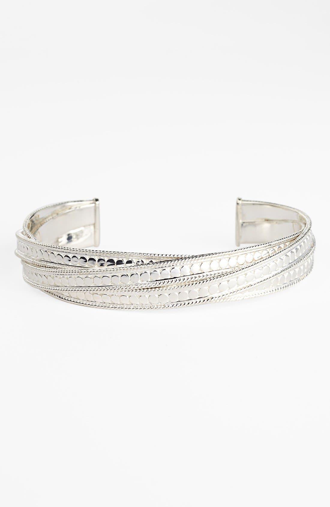 'Timor' Wire Twist Cuff,                         Main,                         color, SILVER