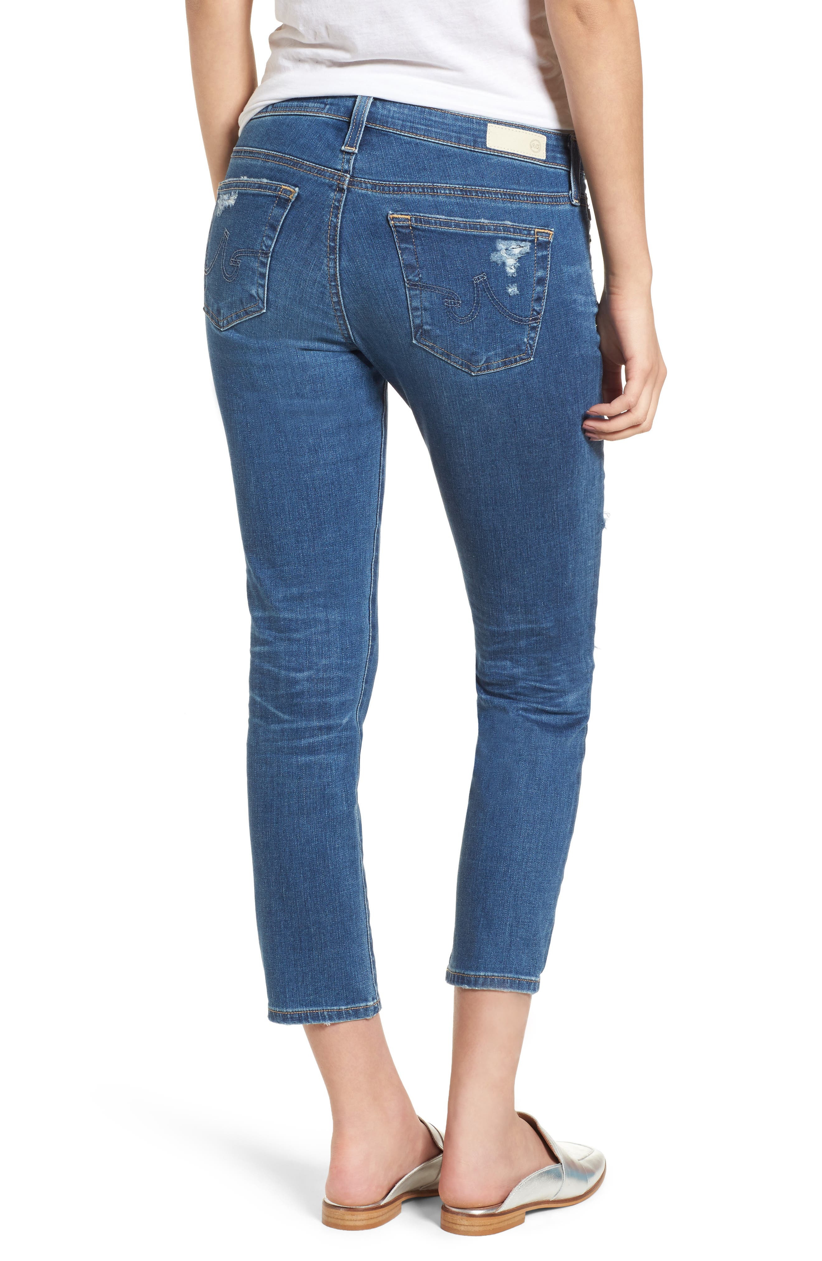 AG,                             Jeans 'The Stilt' Crop Skinny Stretch Jeans,                             Alternate thumbnail 2, color,                             471