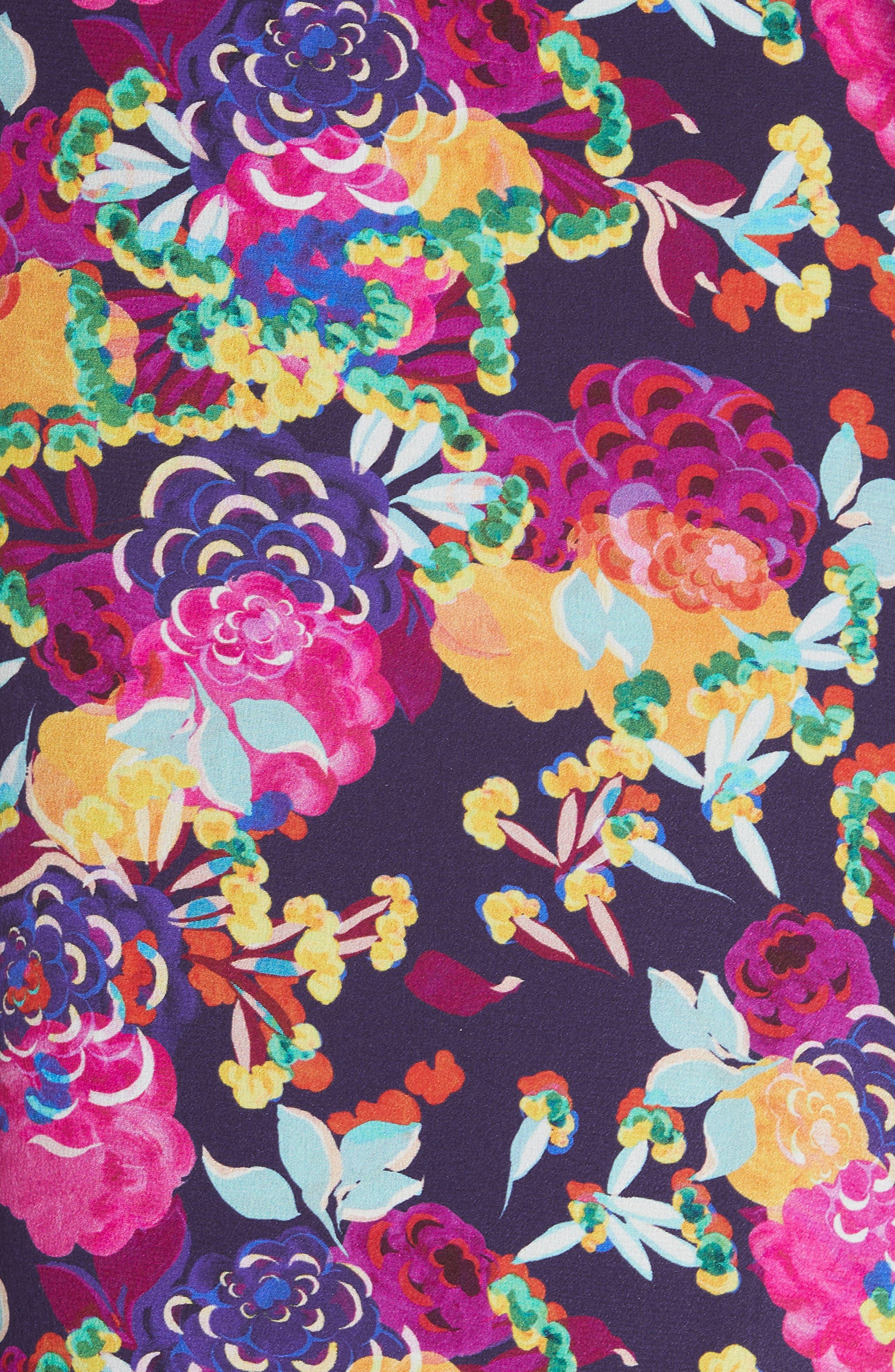 Juli Off the Shoulder Silk Jumpsuit,                             Alternate thumbnail 5, color,                             001