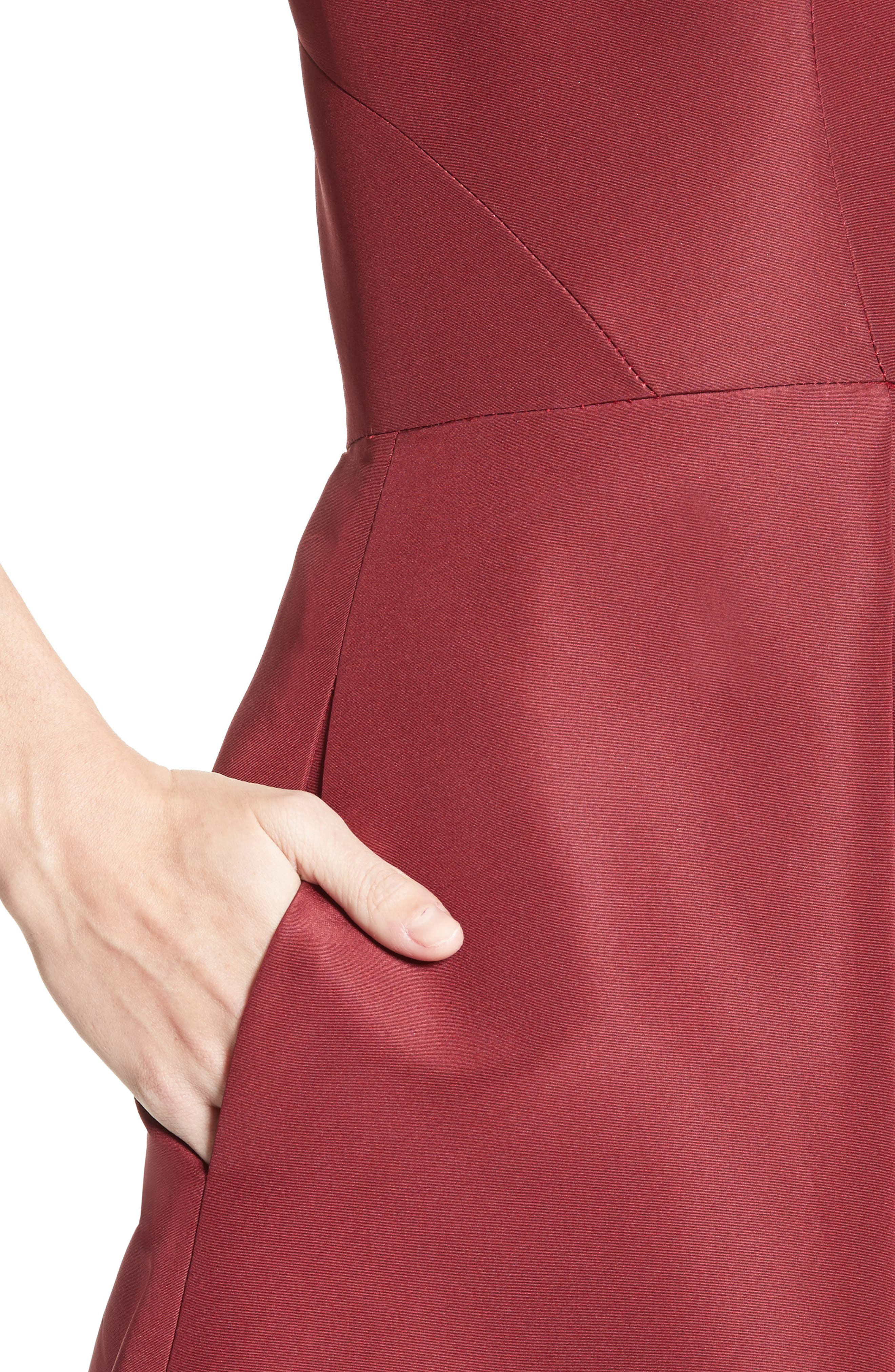 Beaded Silk Faille Gown,                             Alternate thumbnail 4, color,                             600