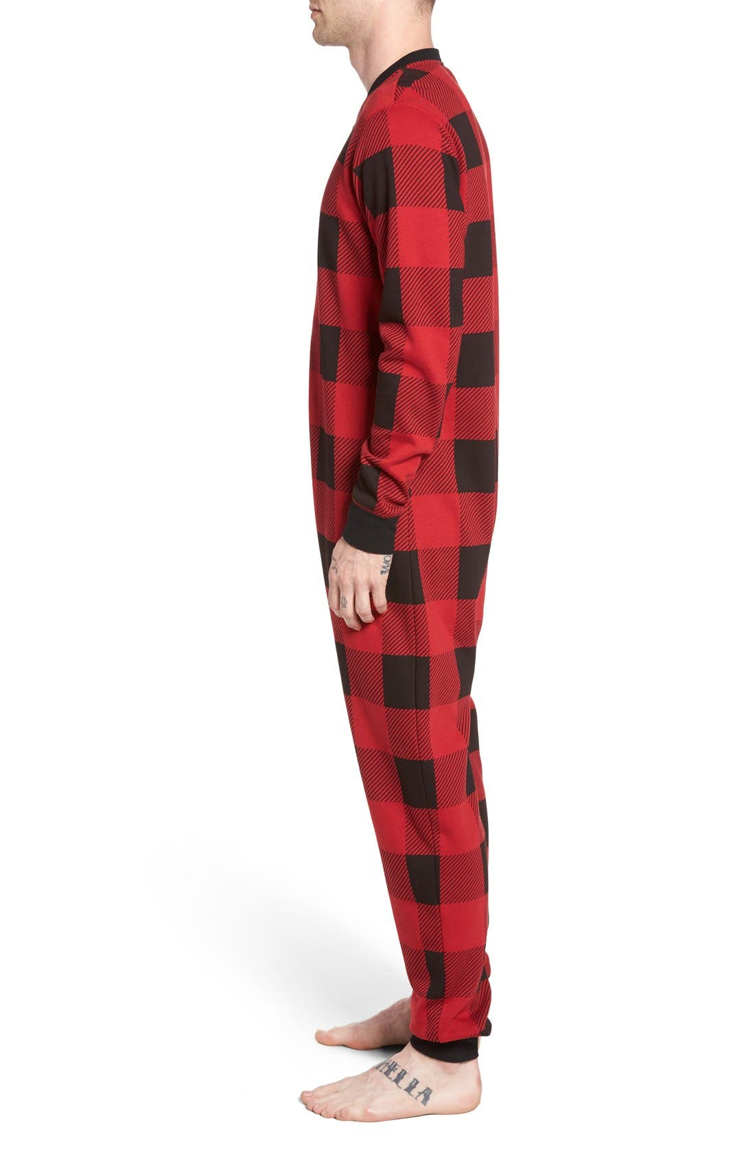 Fleece One-Piece Pajamas,                             Alternate thumbnail 41, color,