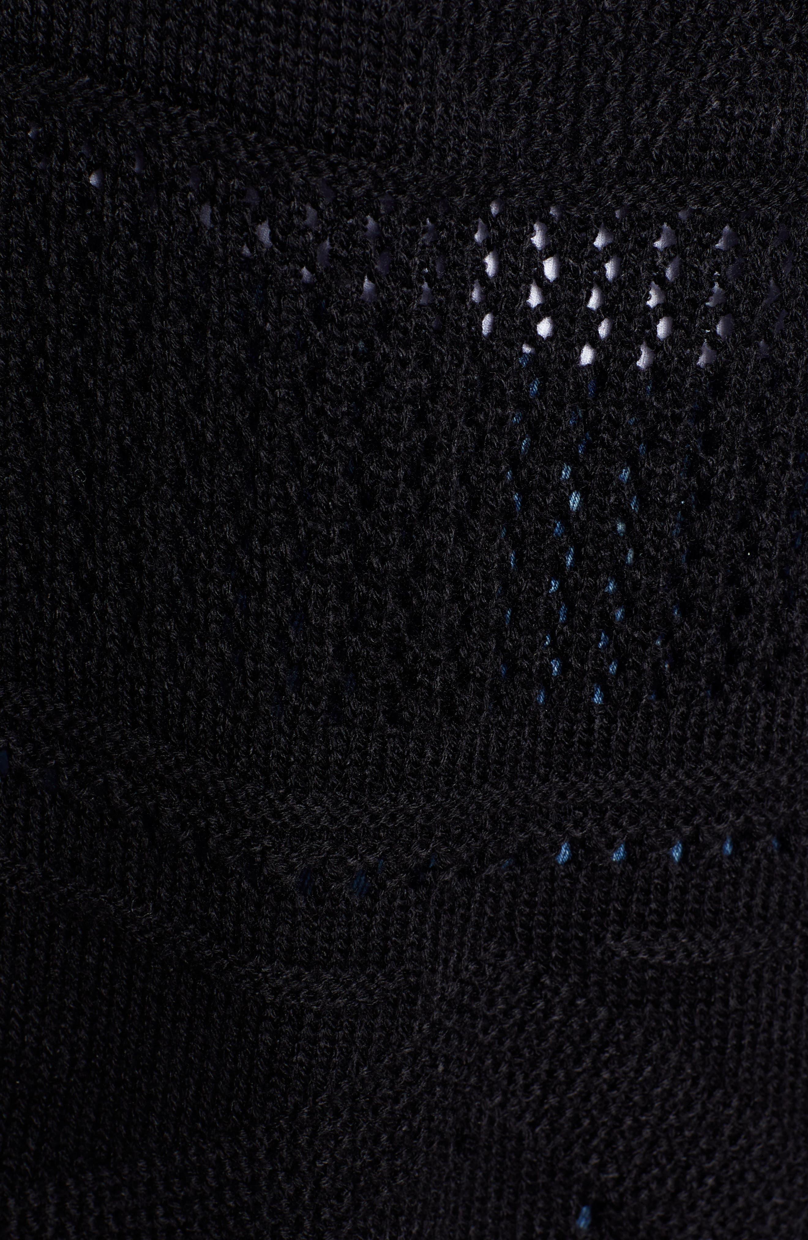 Fringe Ruana,                             Alternate thumbnail 5, color,                             BLACK