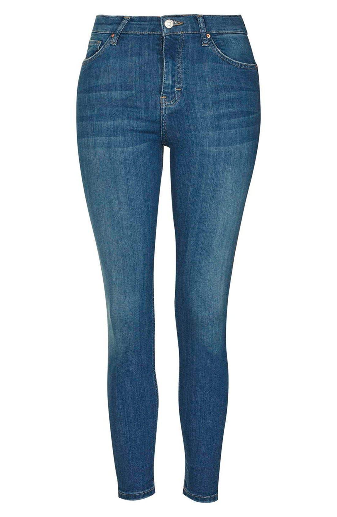 'Jamie' High Waist Ankle Skinny Jeans,                             Alternate thumbnail 6, color,                             400