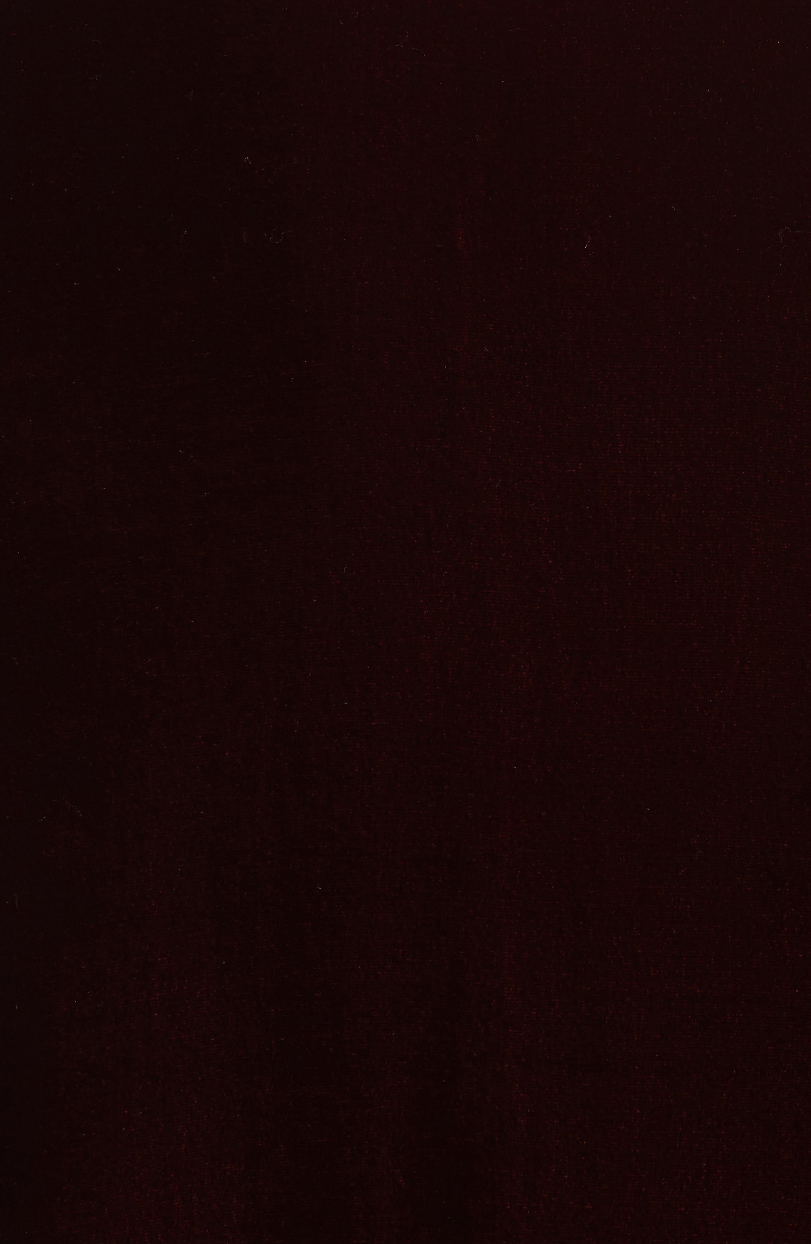 Strapless Satin & Velvet Gown,                             Alternate thumbnail 5, color,                             684
