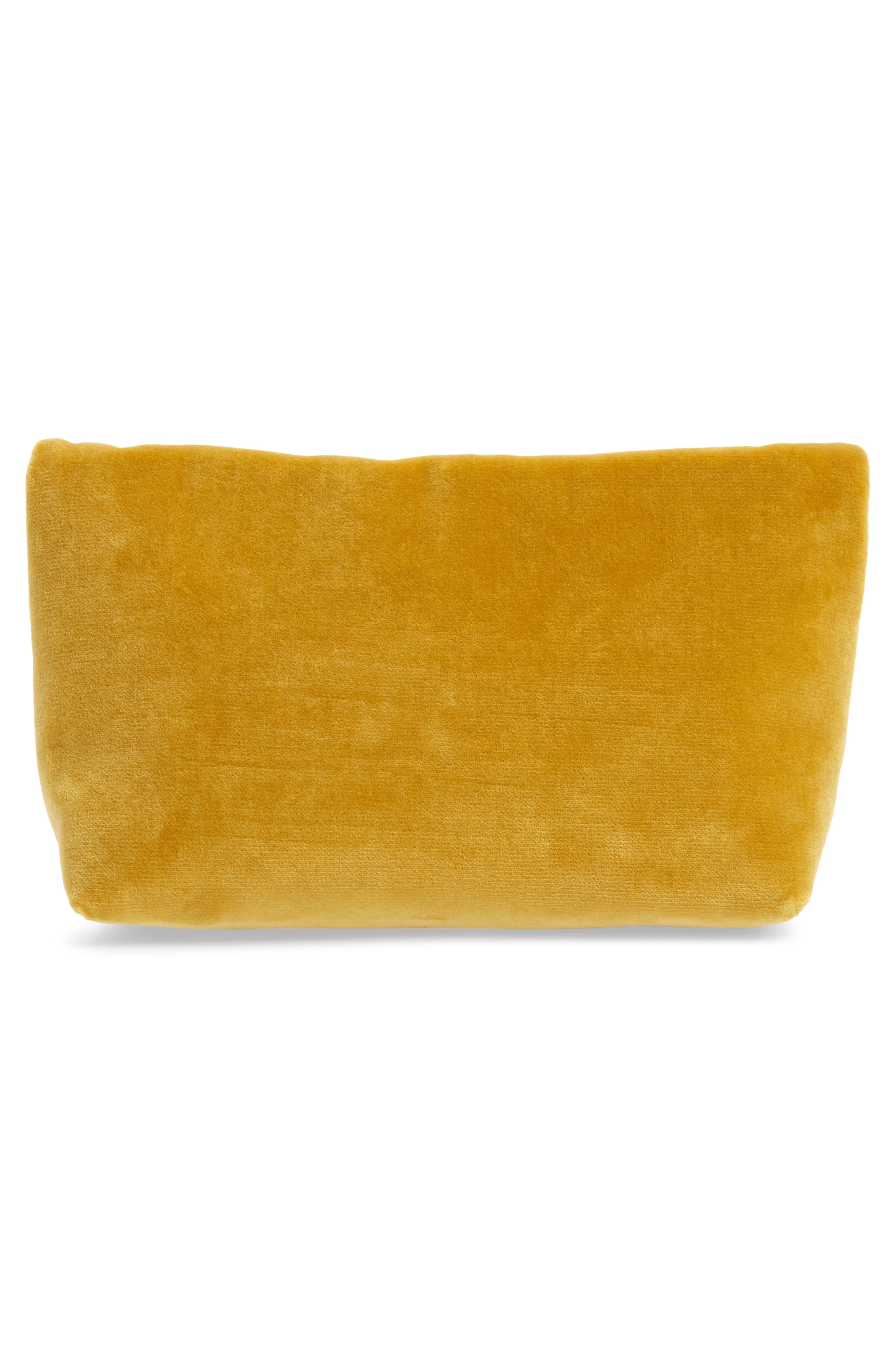 Small Safety Pin Clutch,                             Alternate thumbnail 3, color,                             LARCH YELLOW