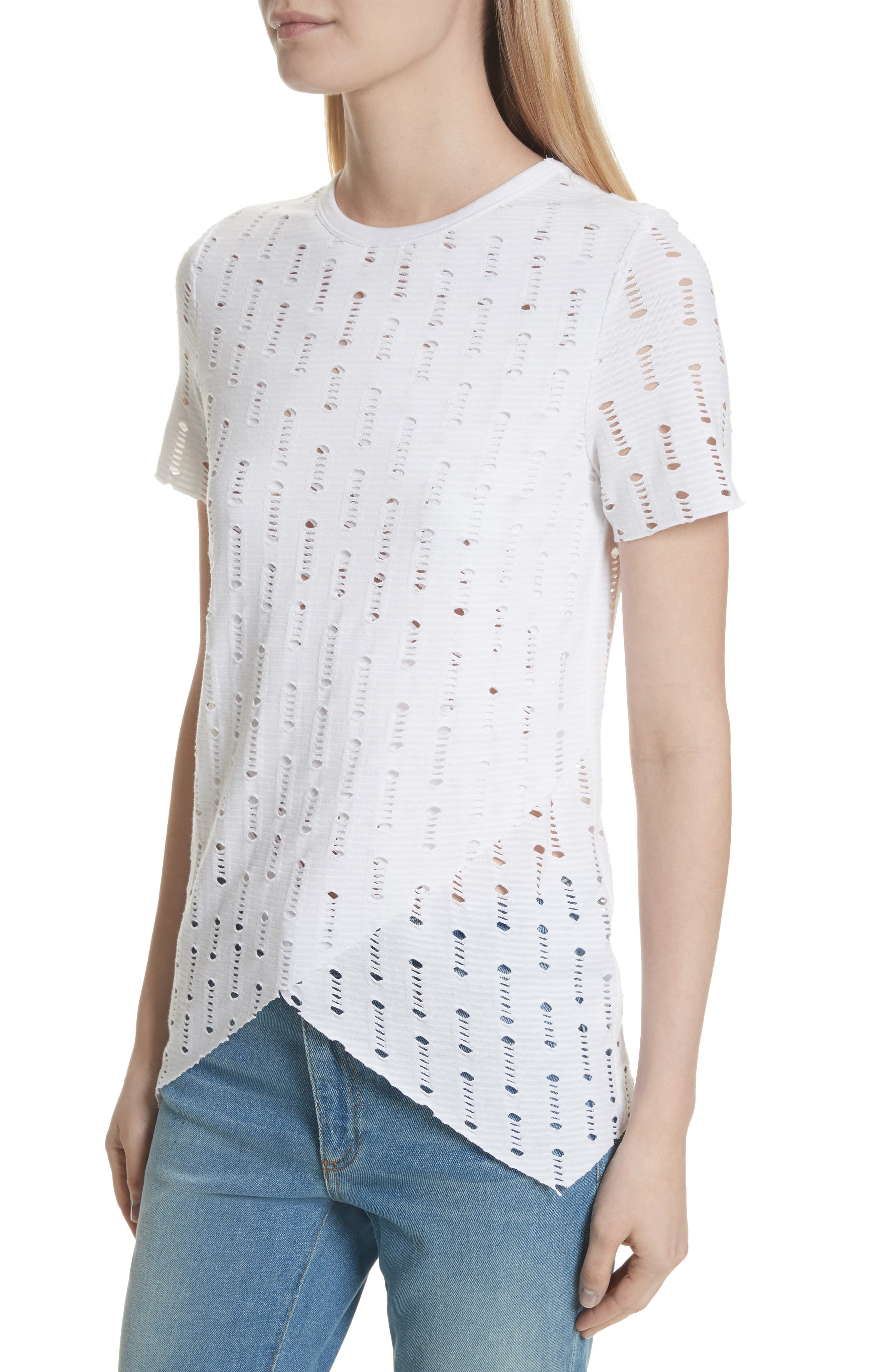 Perforated Tee,                             Alternate thumbnail 4, color,                             100