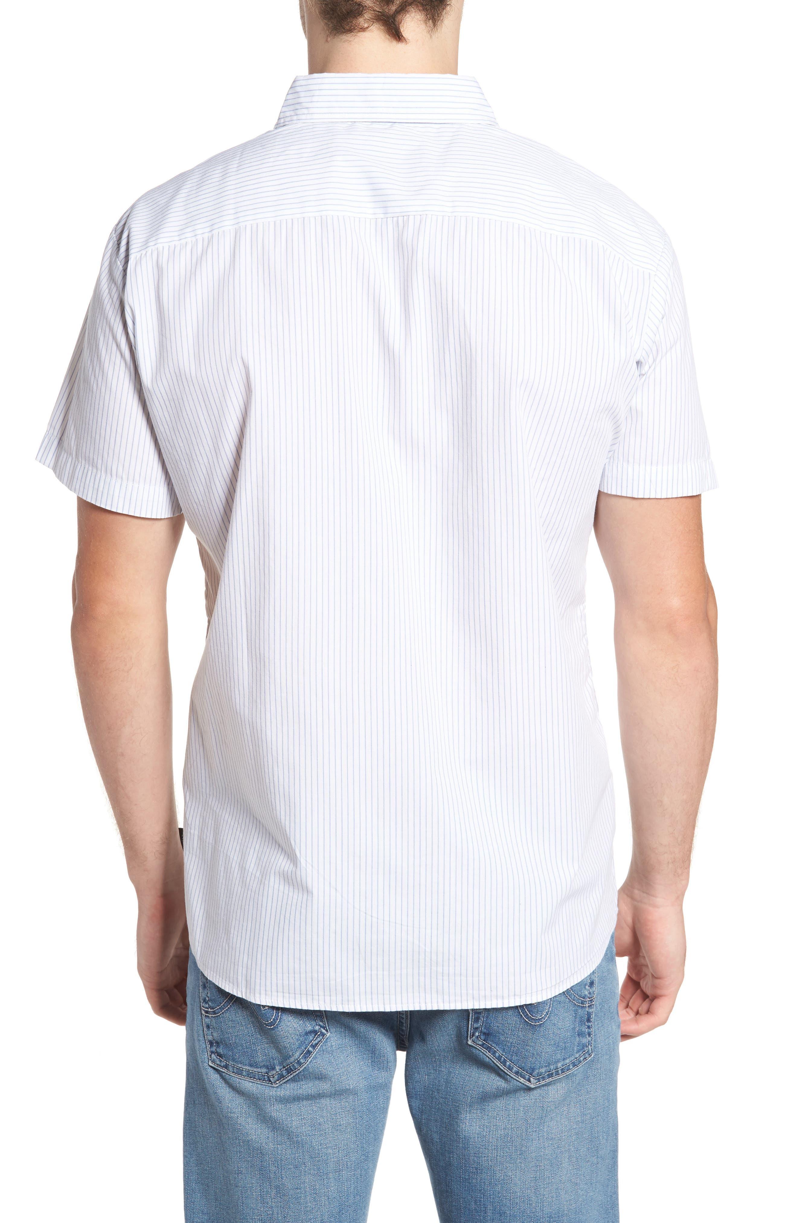 Reeve Pinstripe Woven Shirt,                             Alternate thumbnail 2, color,                             100