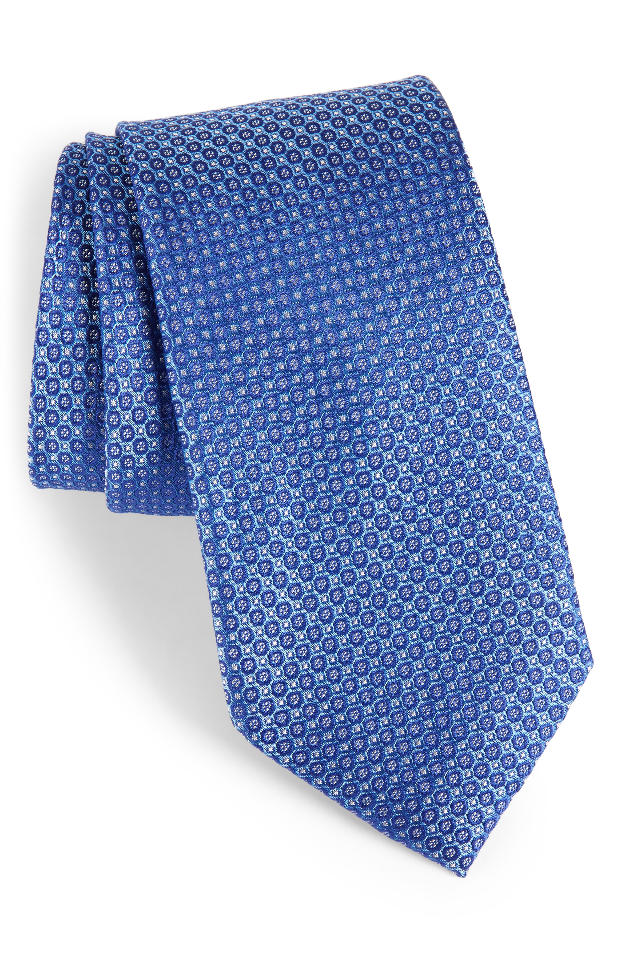 Park Ave Solid Silk Tie,                         Main,                         color,