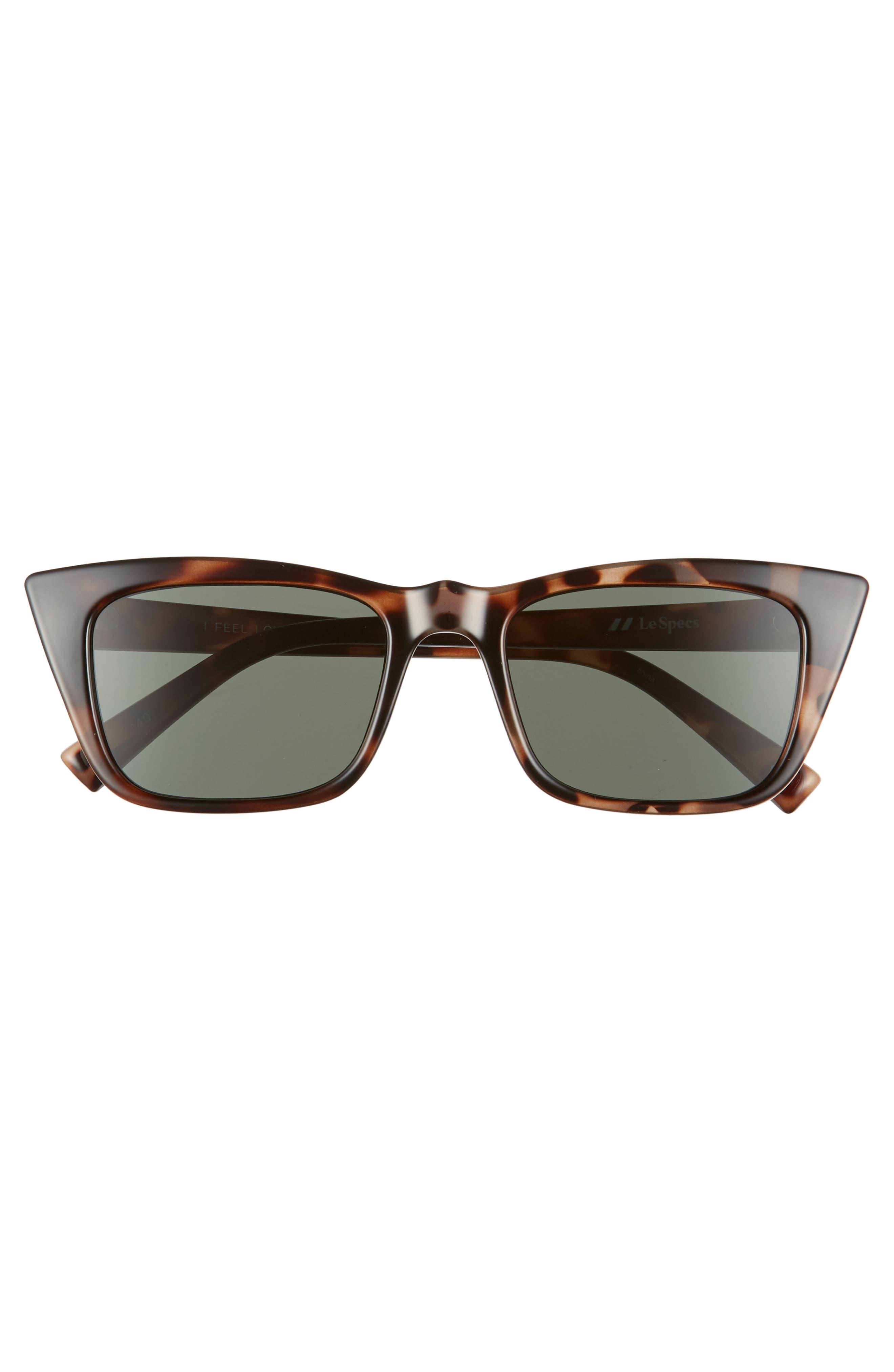 I Feel Love 51mm Cat Eye Sunglasses,                             Alternate thumbnail 3, color,                             VOLCANIC TORTOISE