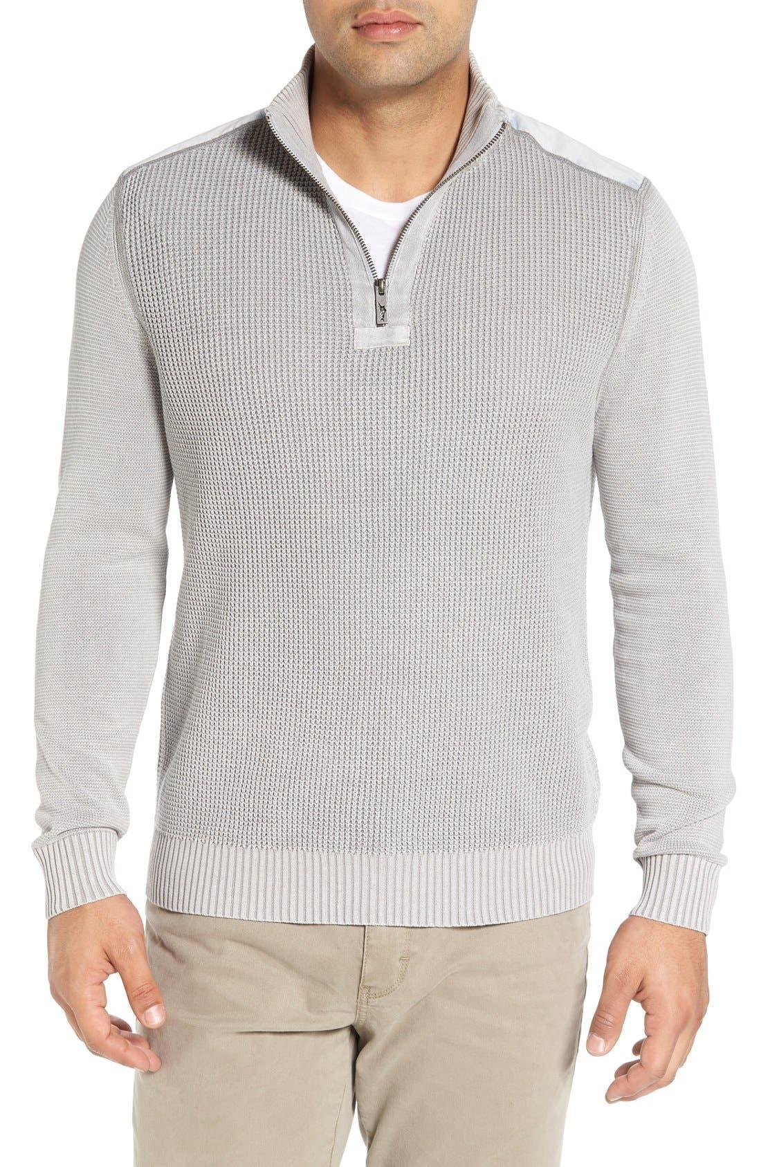 'Coastal Shores' Quarter Zip Sweater,                             Main thumbnail 4, color,