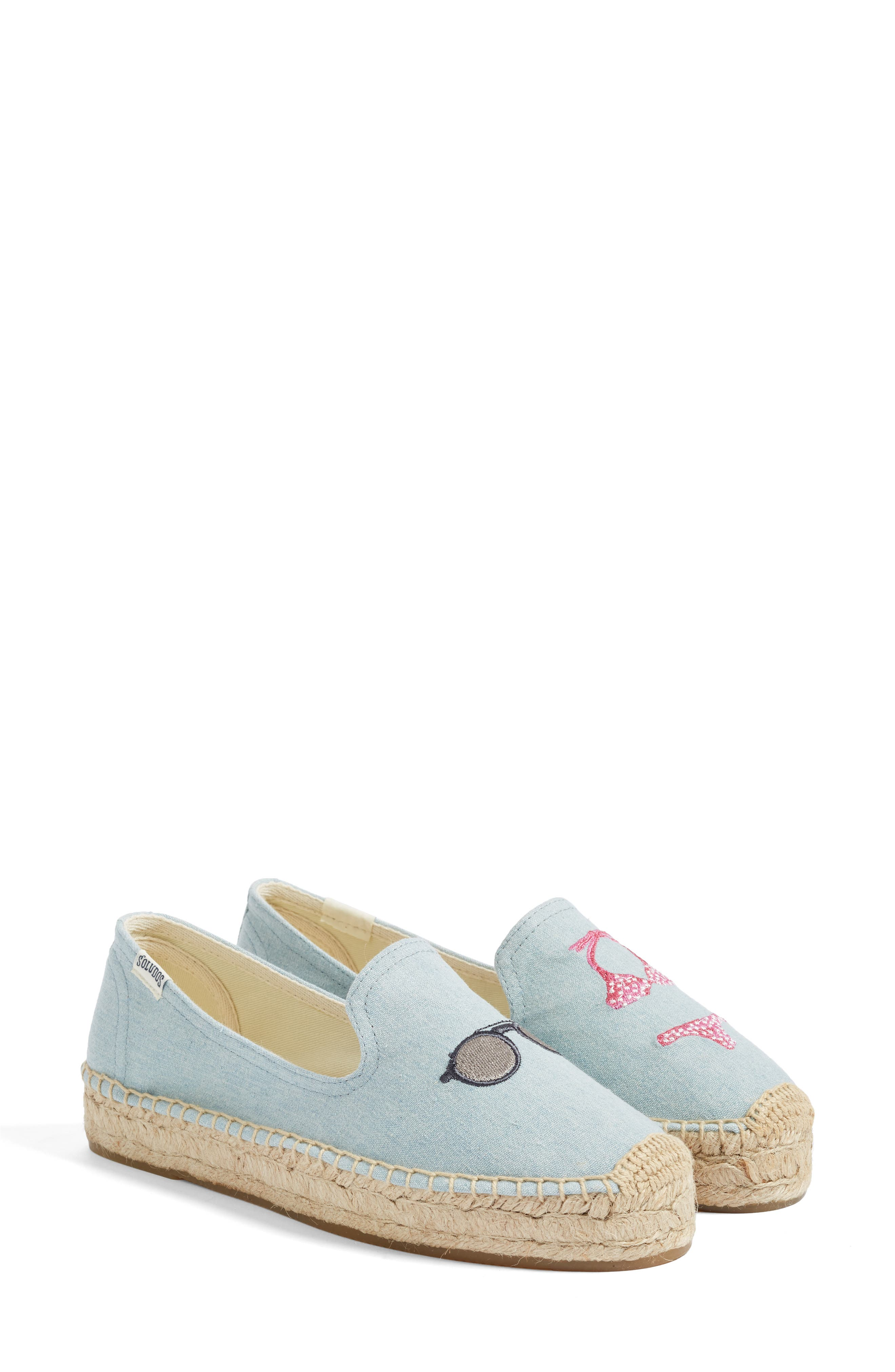 Embroidered Flat,                         Main,                         color, 420
