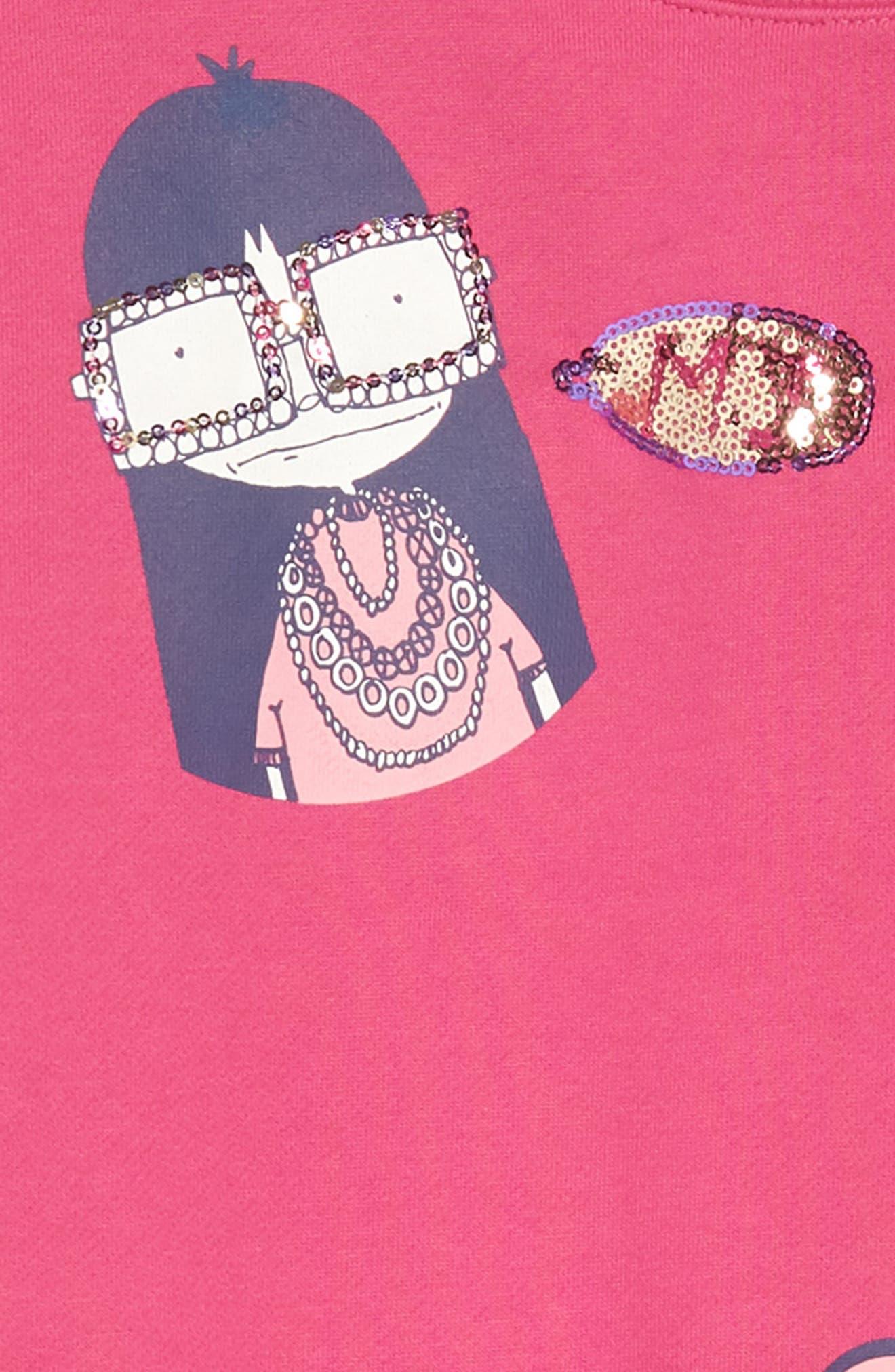 Miss Marc Sweatshirt Dress,                             Alternate thumbnail 3, color,                             670