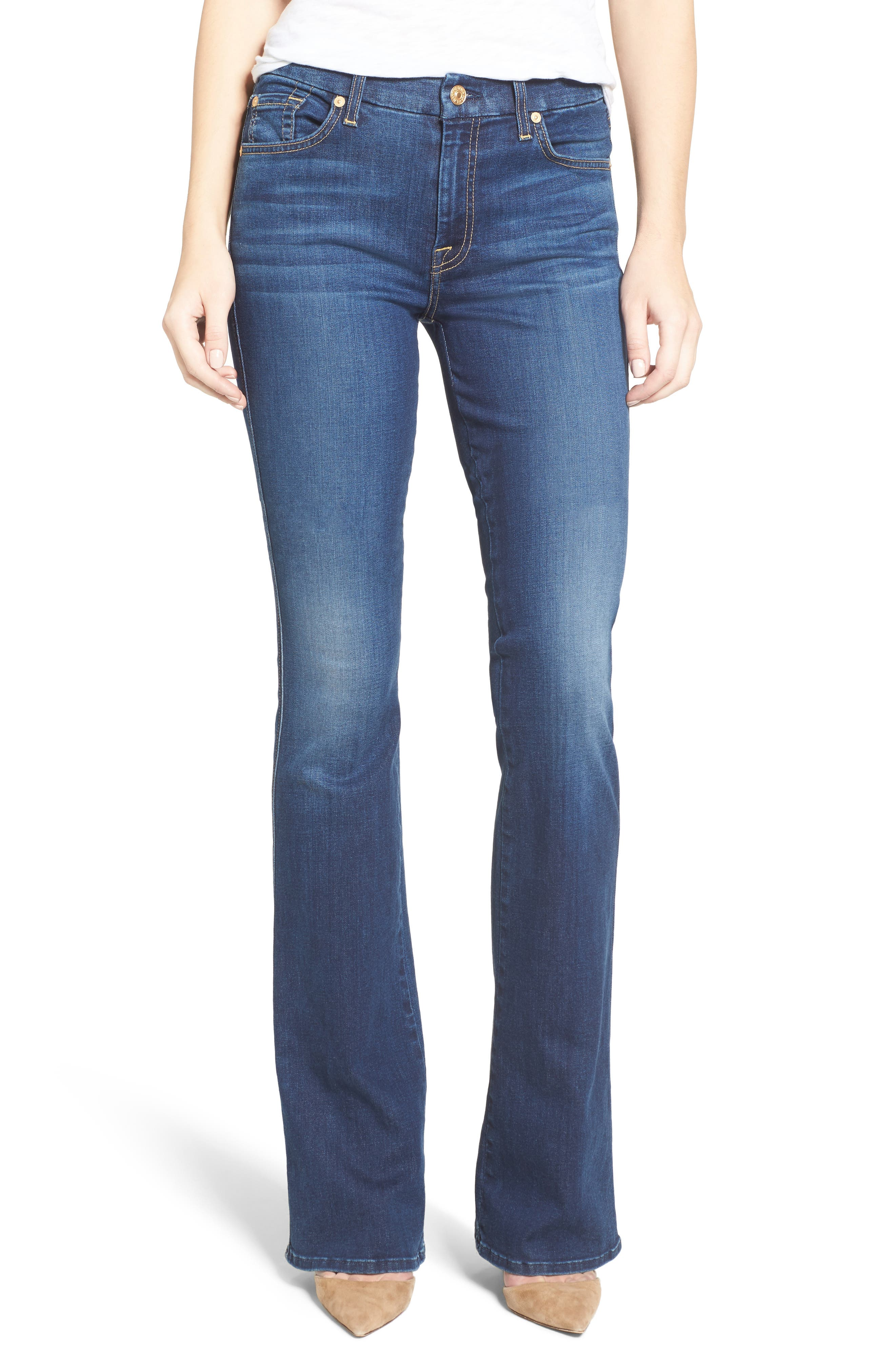 'b(air) - A Pocket' Flare Jeans,                         Main,                         color, 400