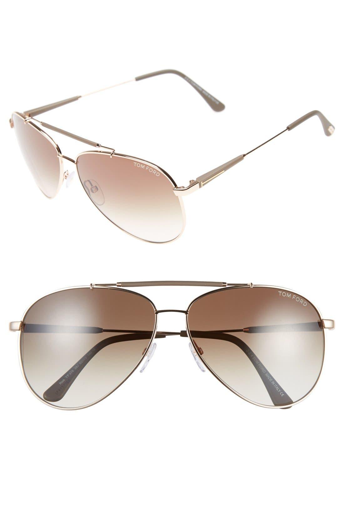 Rick 62mm Aviator Sunglasses,                             Main thumbnail 3, color,