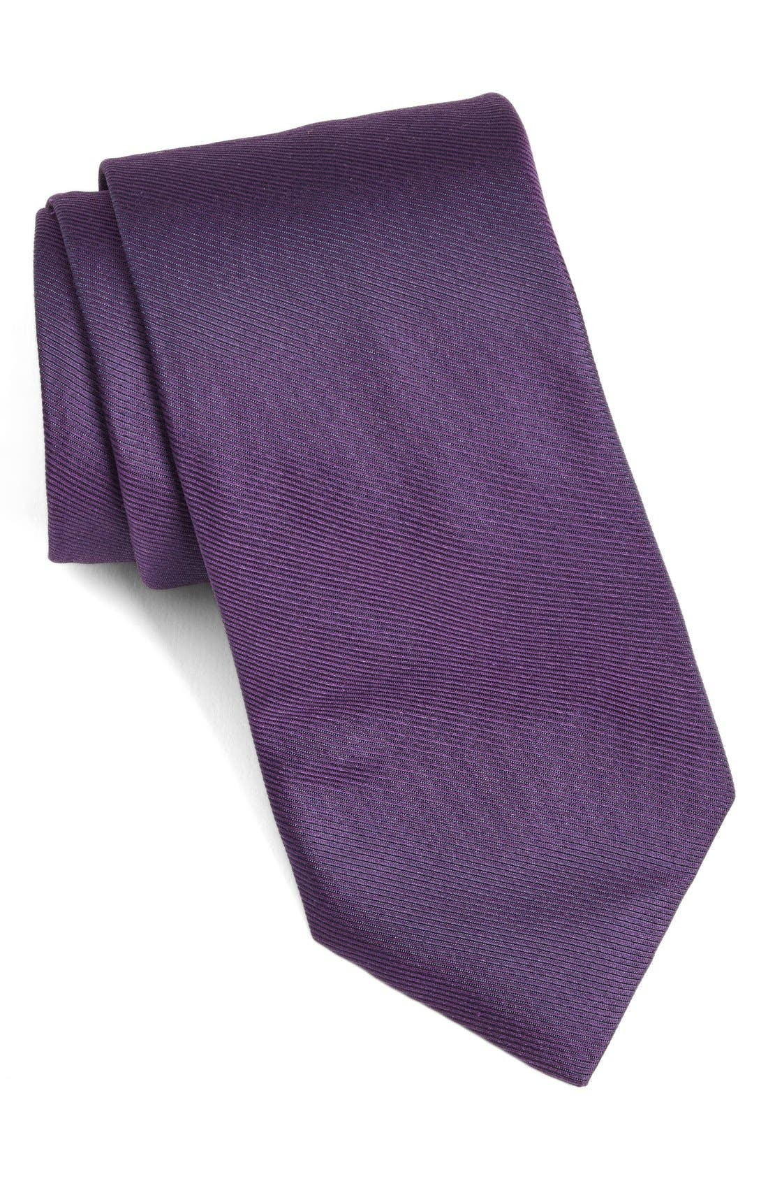 Solid Woven Silk Tie,                             Main thumbnail 6, color,