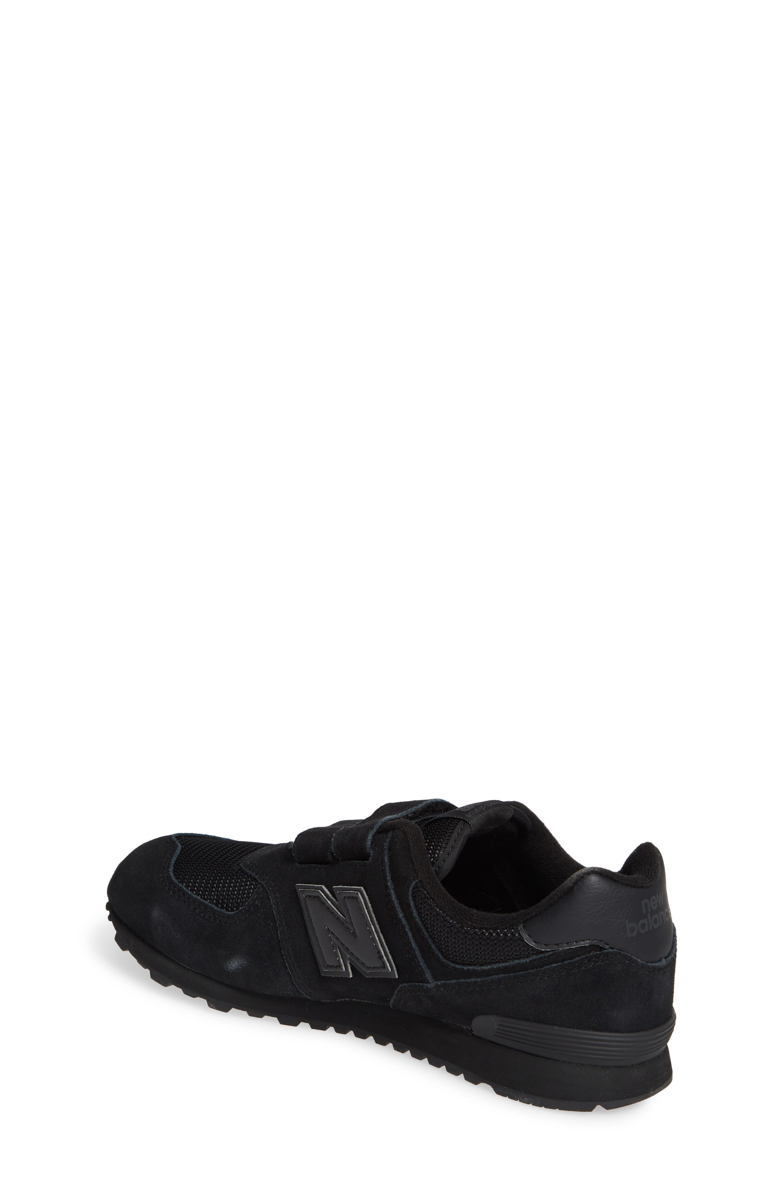 NEW BALANCE,                             574 Retro Surf Sneaker,                             Alternate thumbnail 2, color,                             BLACK/ BLACK