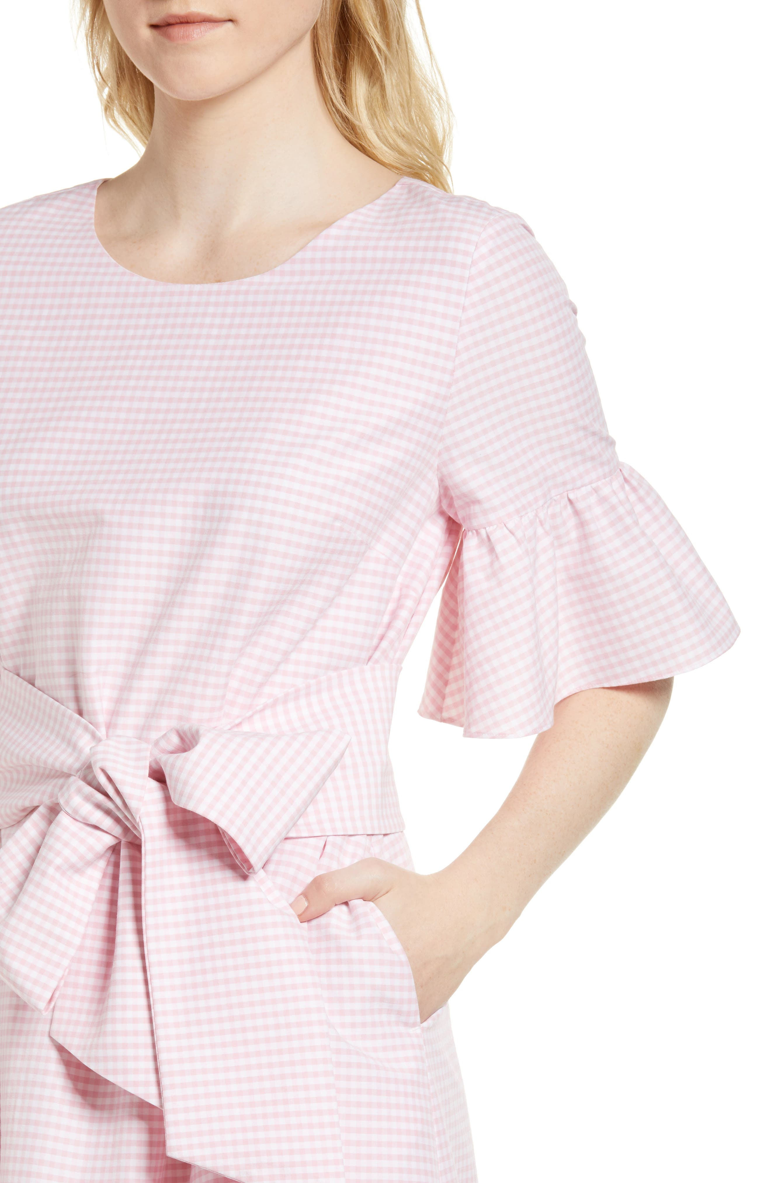 Ruffle & Bow Dress,                             Alternate thumbnail 12, color,