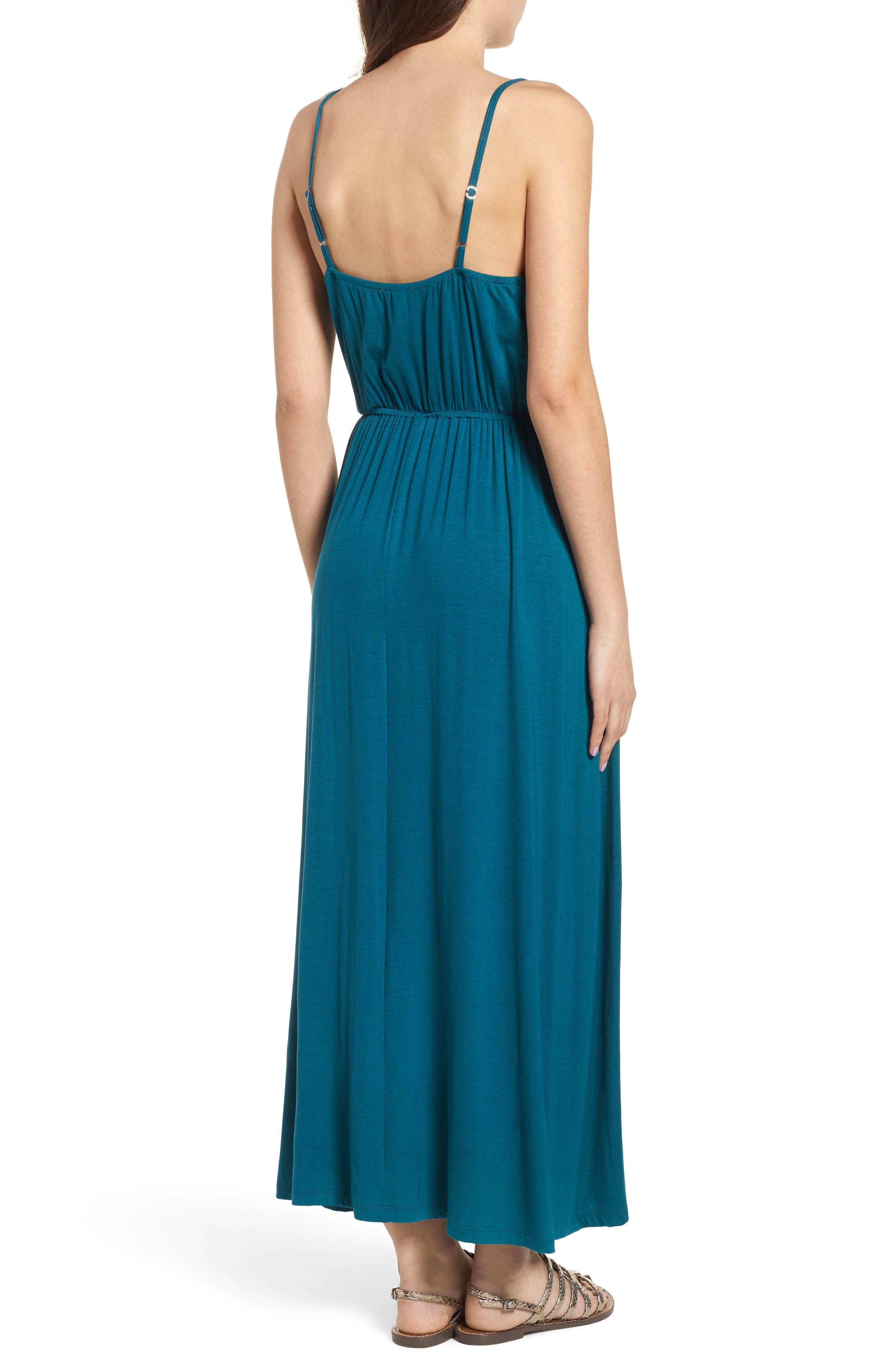 V-Neck Maxi Dress,                             Alternate thumbnail 6, color,