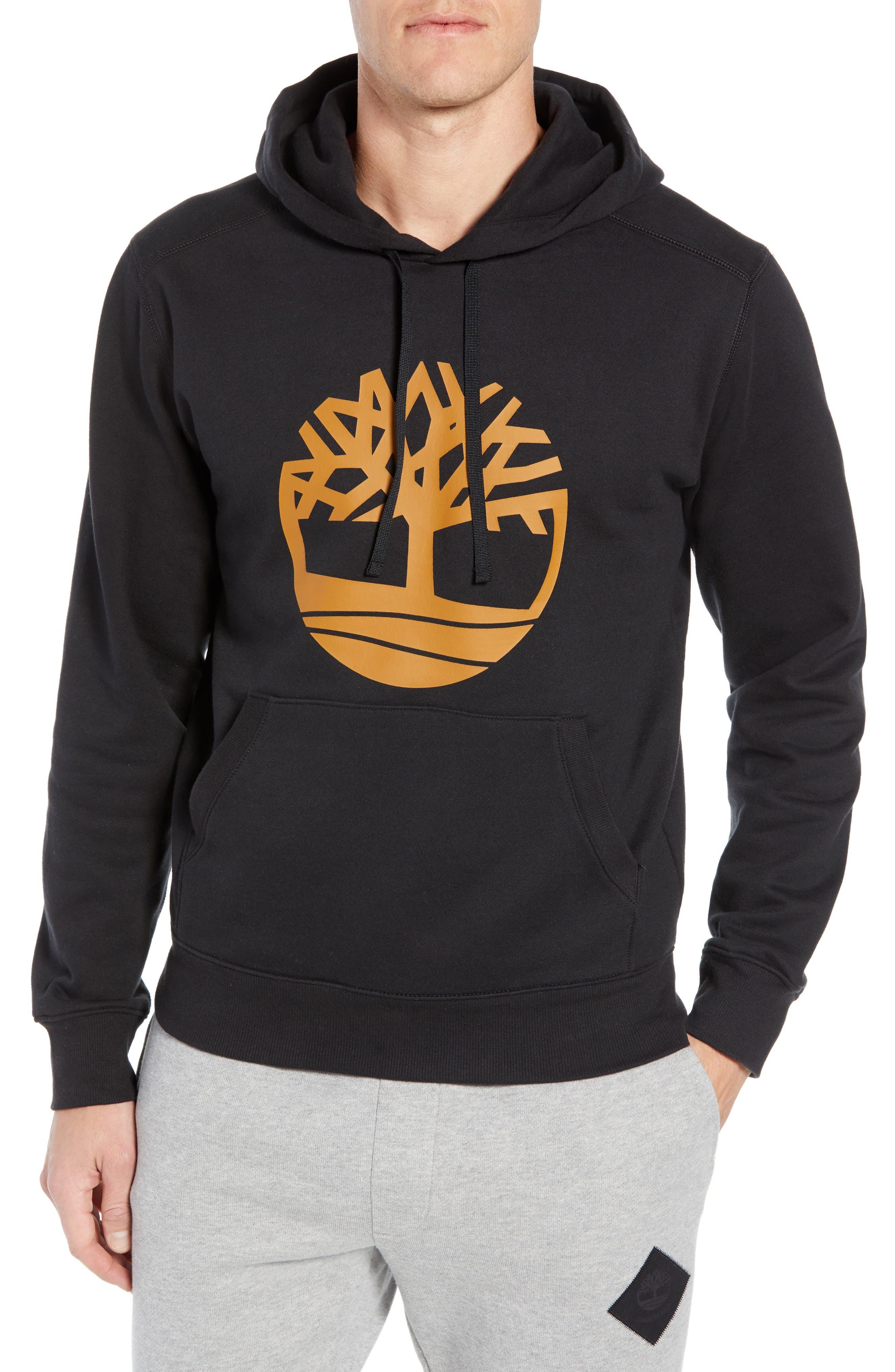 Logo Hoodie Sweatshirt,                         Main,                         color, BLACK