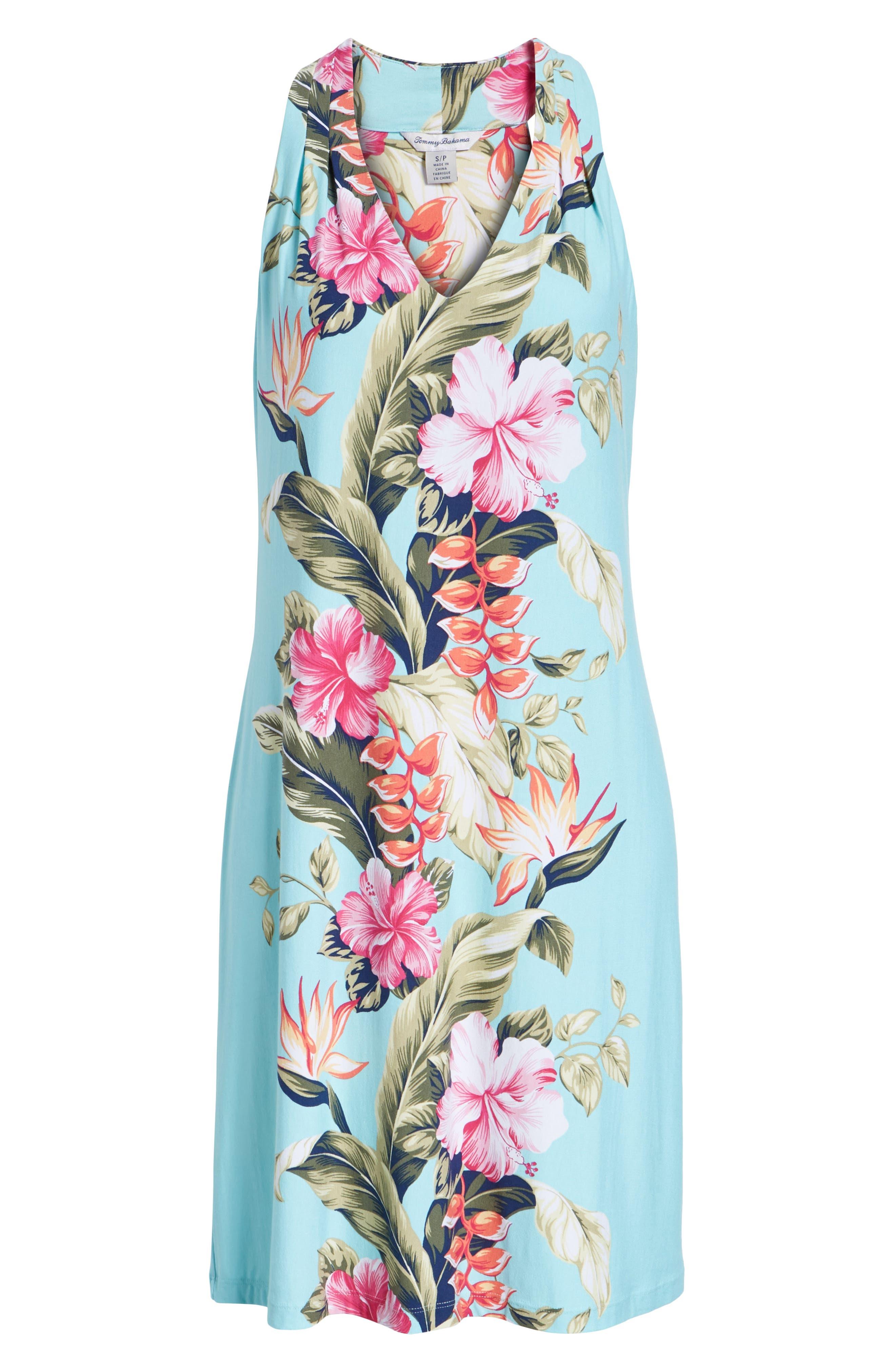 Kahuna Cascade Dress,                             Alternate thumbnail 7, color,                             BLUE SWELL