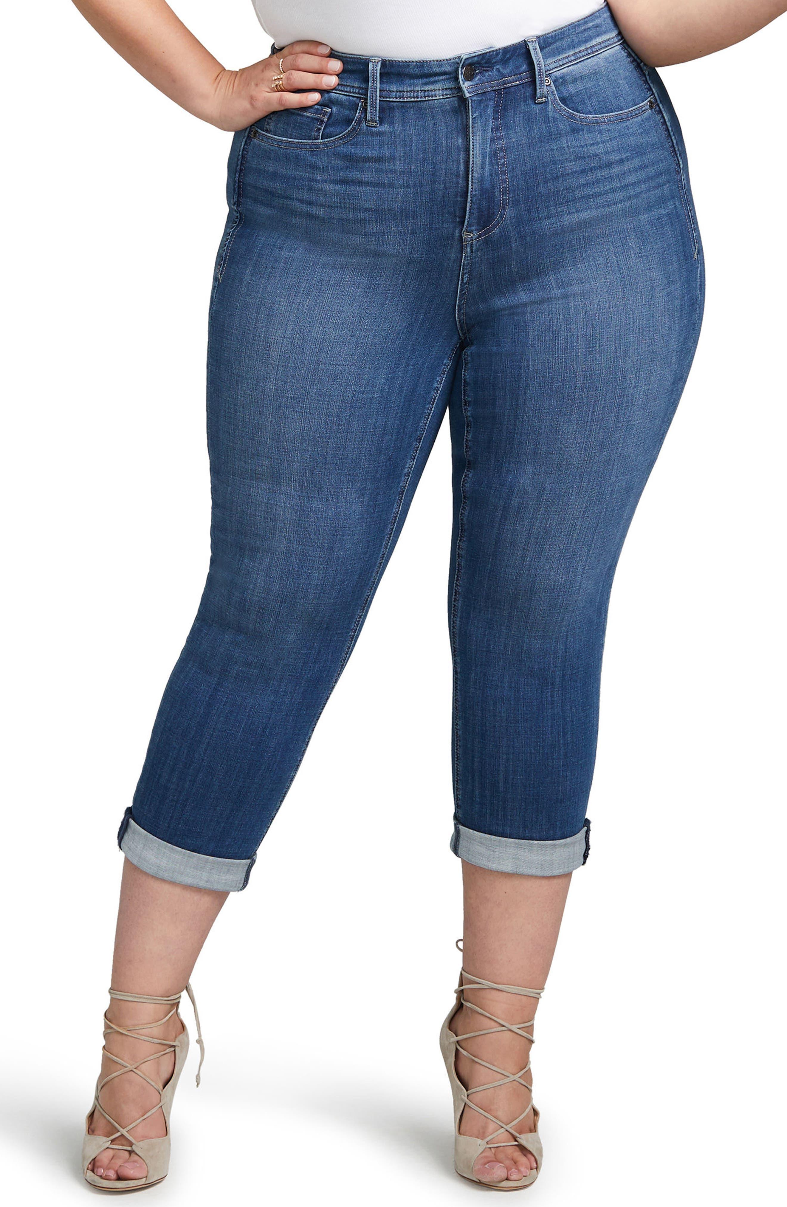 Slim Straight Crop Jeans,                             Main thumbnail 1, color,                             404